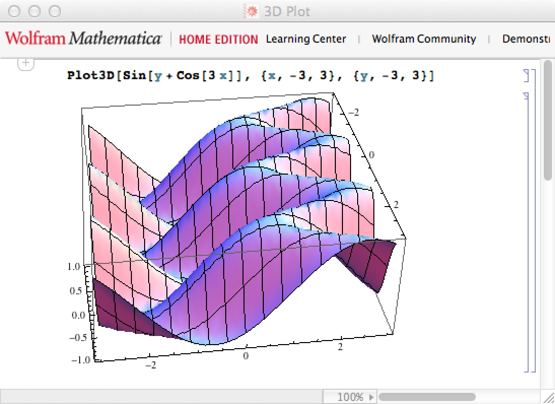 Donauwelle in Mathematica 9 (Home Edition)
