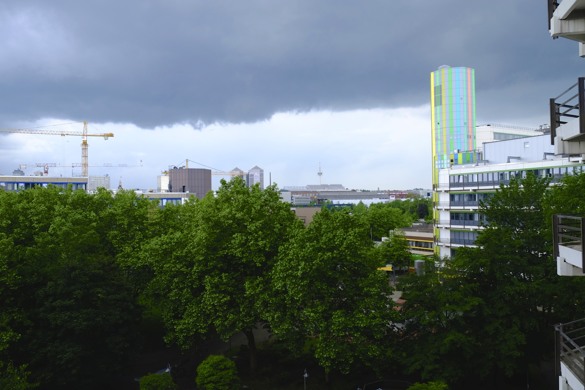 View from Entrance S05 over the Essen University Campus.