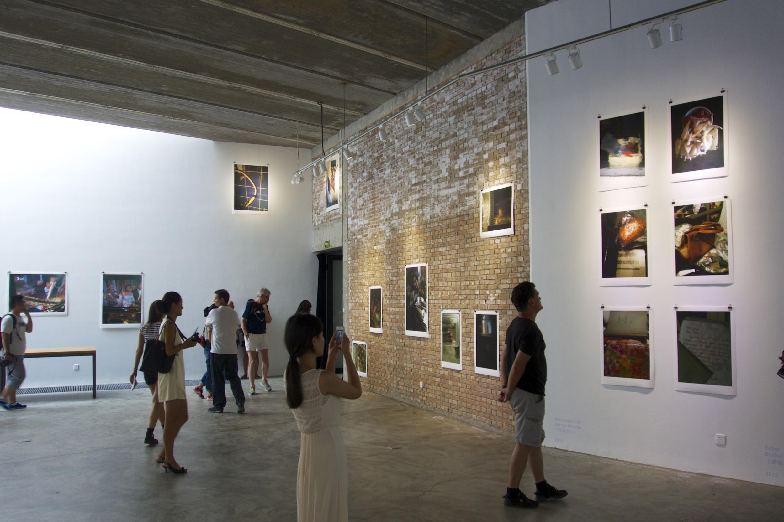 """Opening of """"Die Grosse Chance"""" by Dieter M. Gräf in the Three Shadows Gallery (Beijing)."""