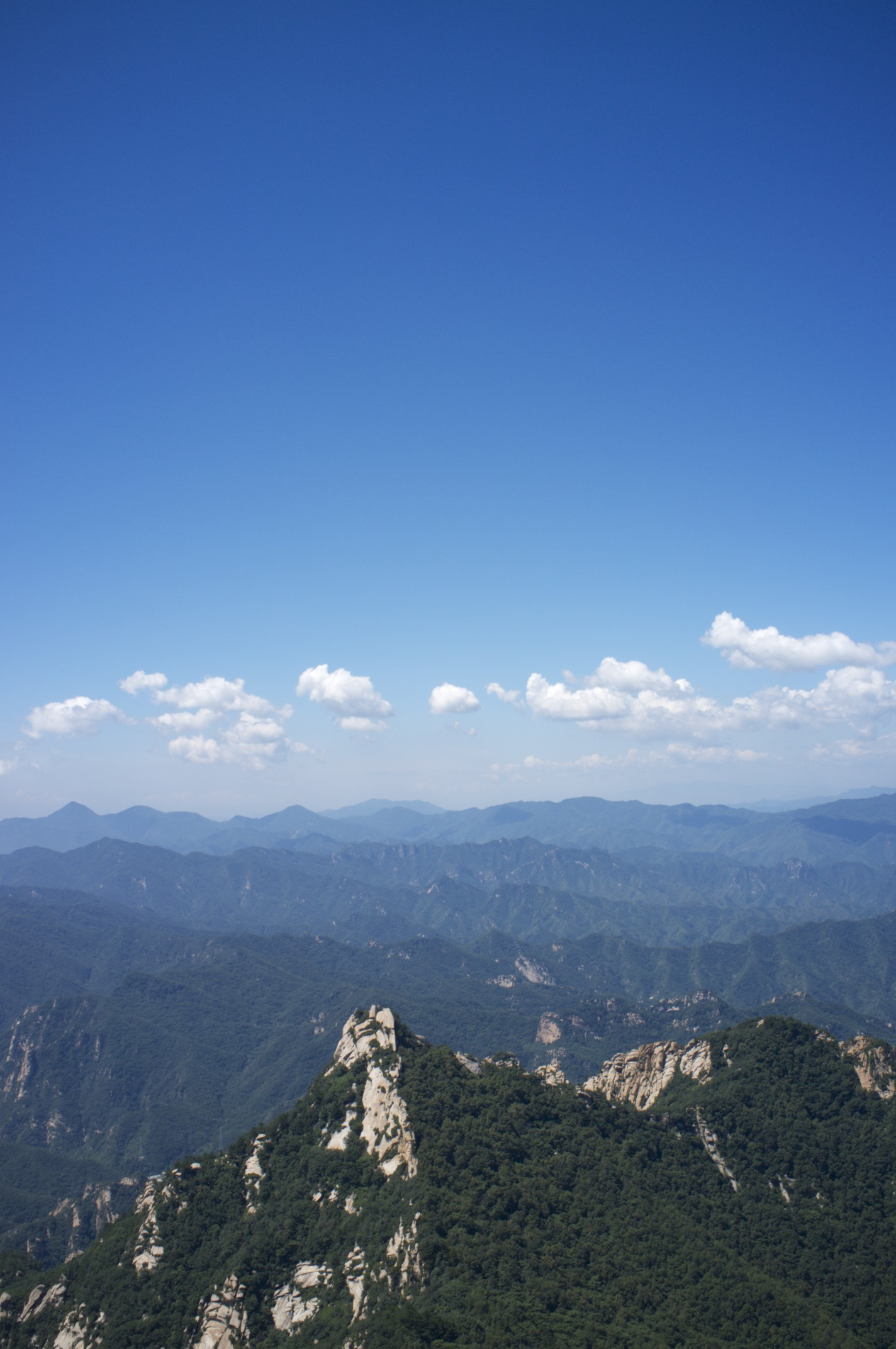 View form the Yun Meng Shan Peak over the mountains North of Beijing.