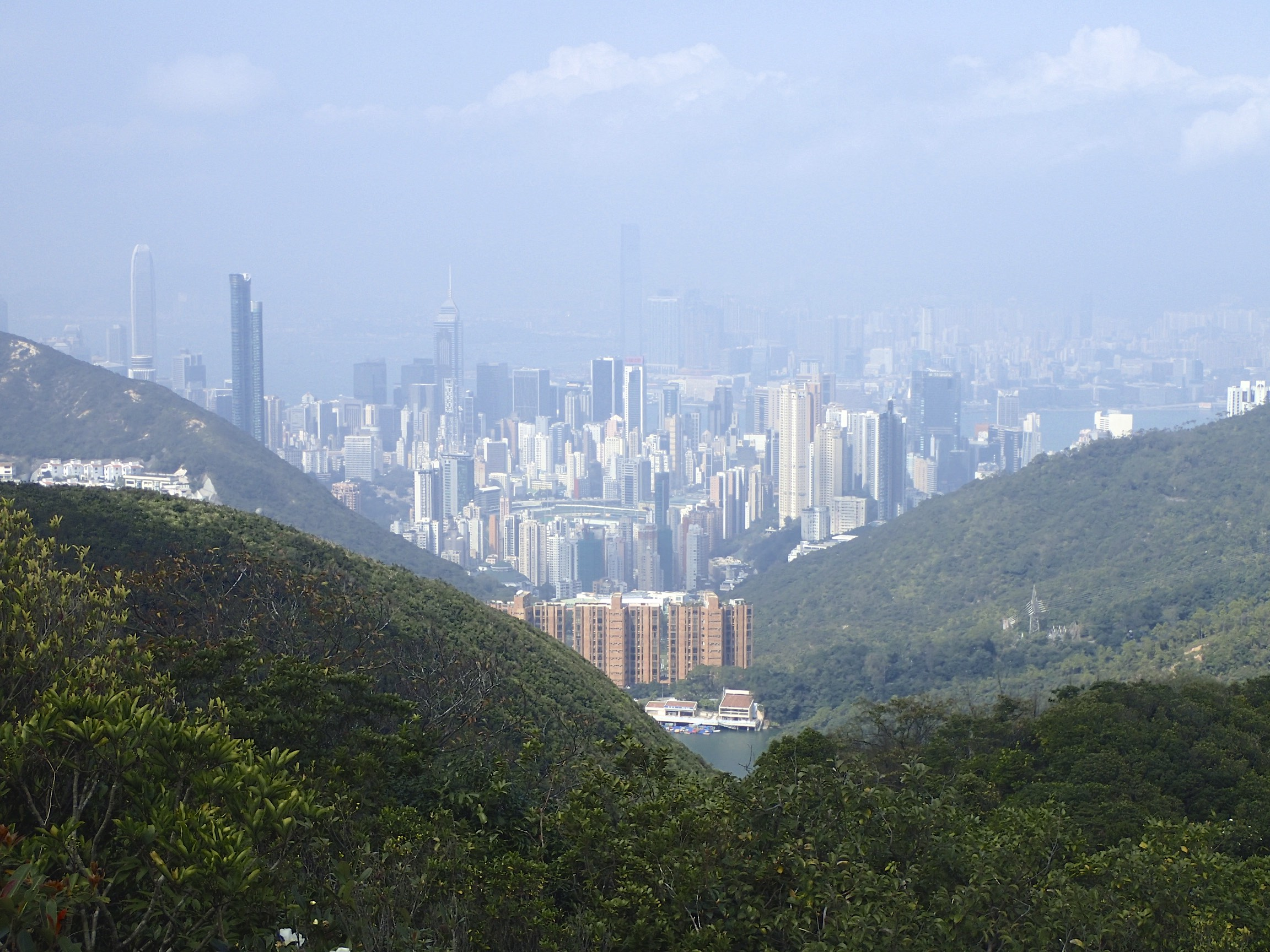 View before descending down into the buzzing Hong Kong