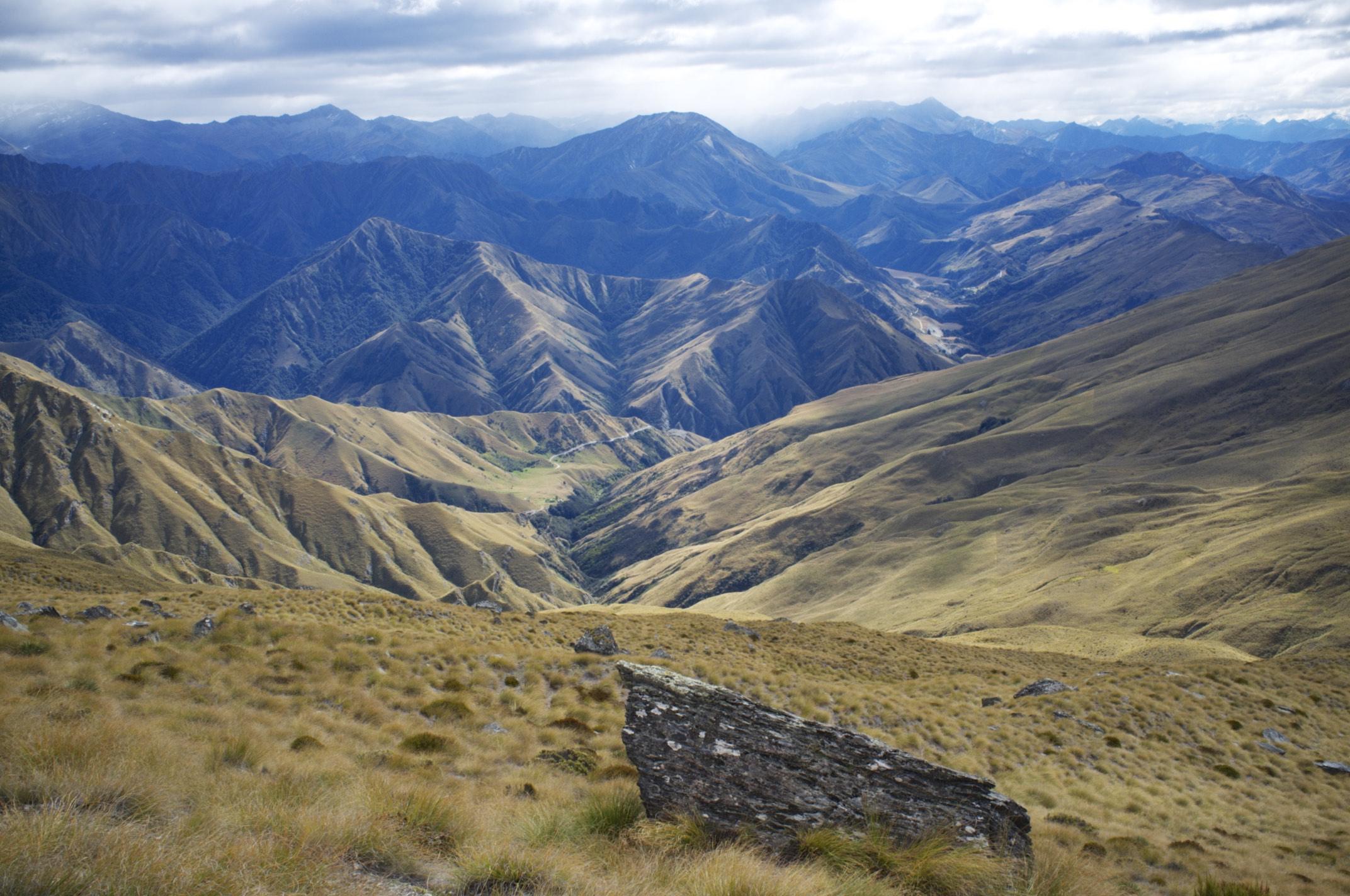 View from Ben Lomond Summit (1700 m).