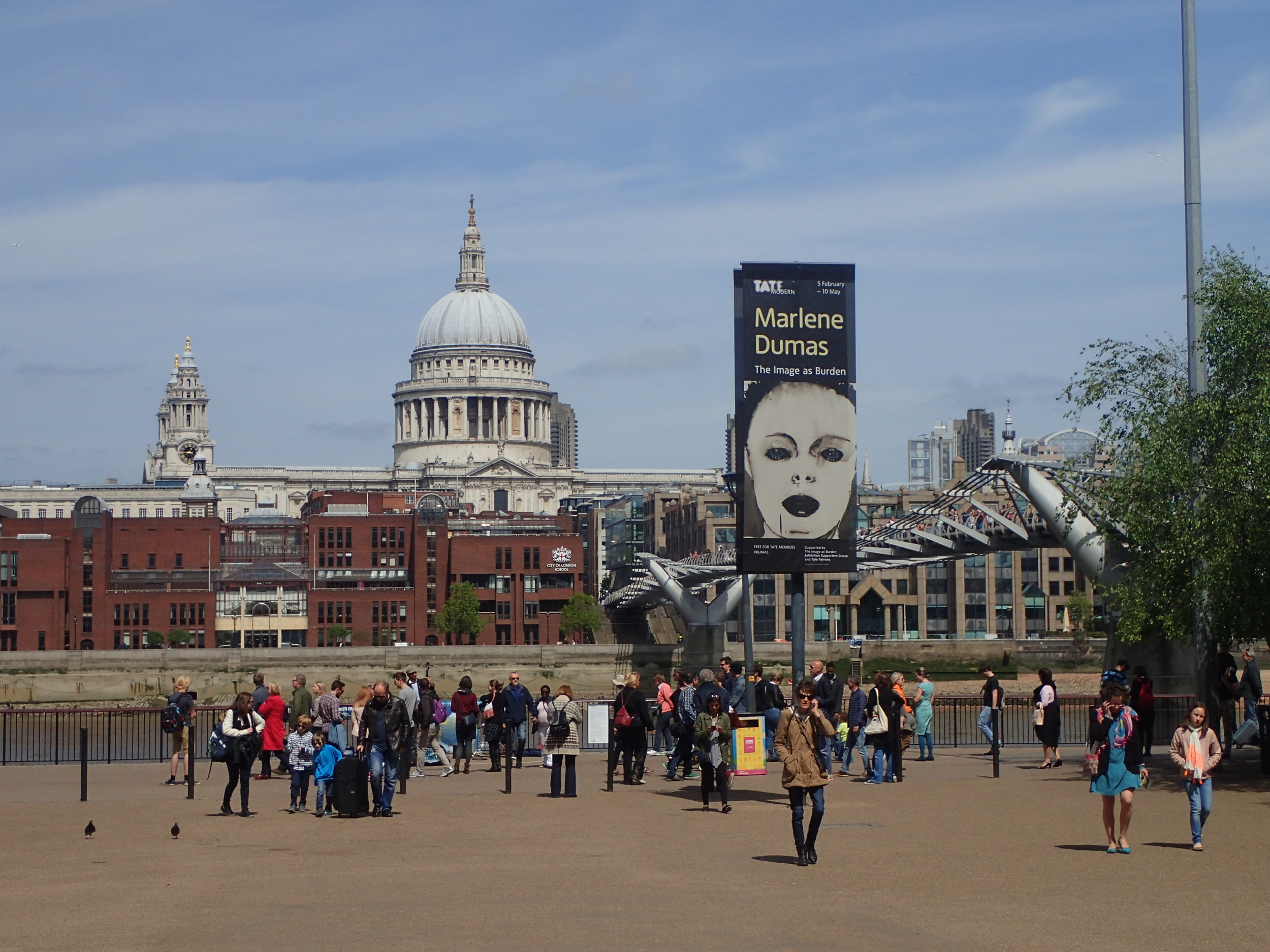 View on St. Pauls from Tate Modern