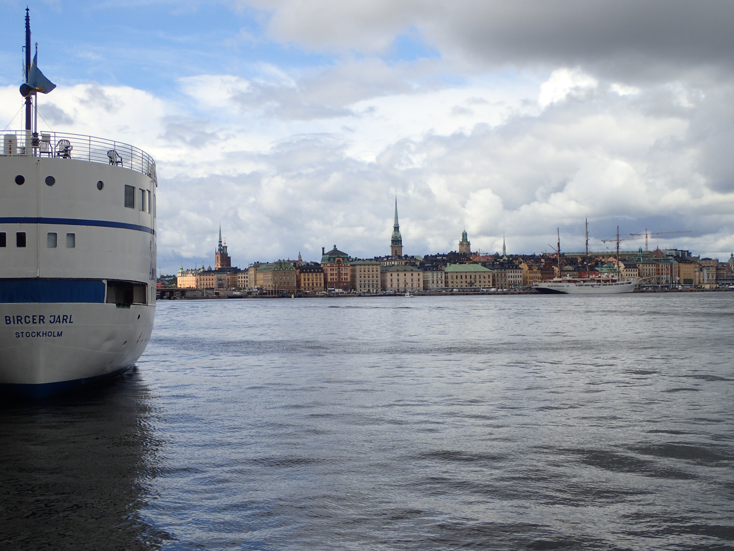 Stockholm (in July 2015). I like entering cities from the seaside and not from the airport.