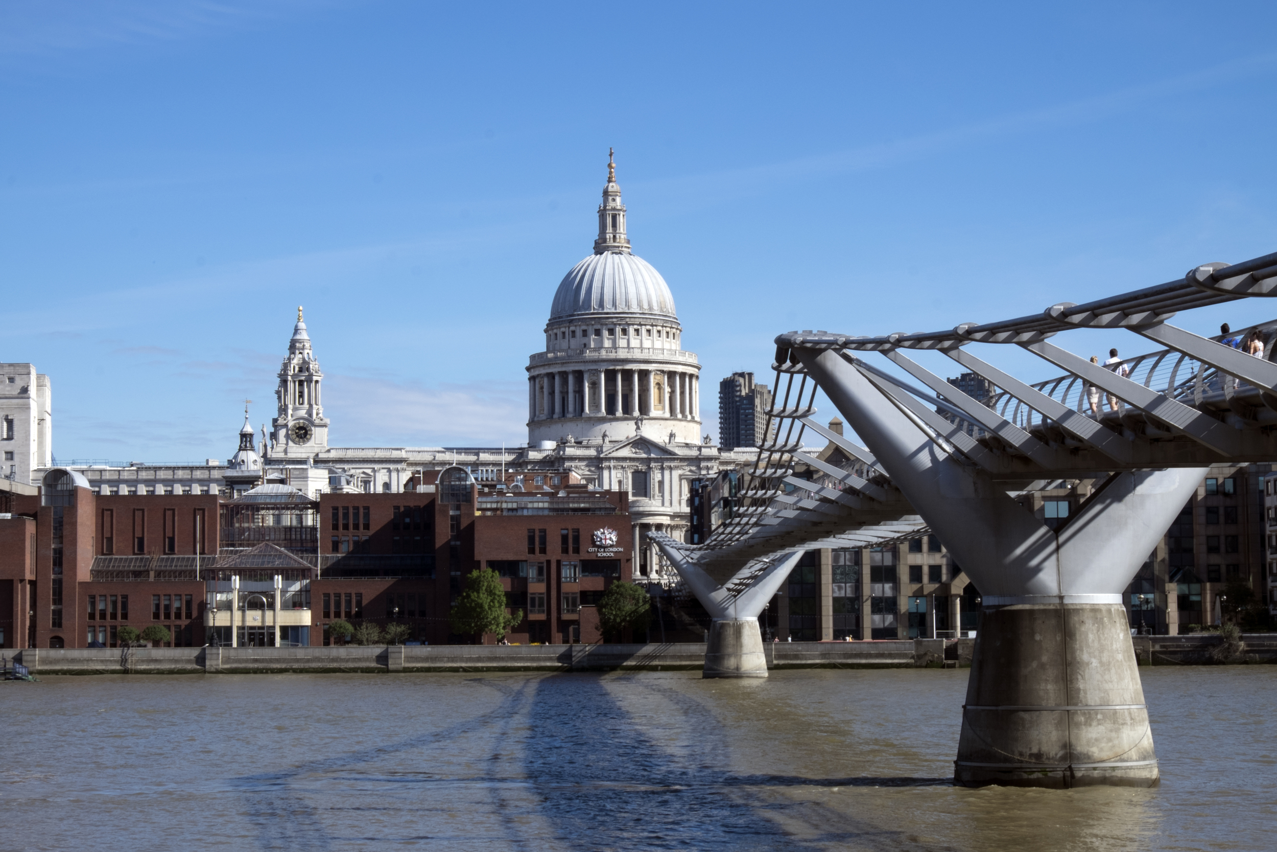 St. Paul's from Tate Modern. Our first neighborhood in London.