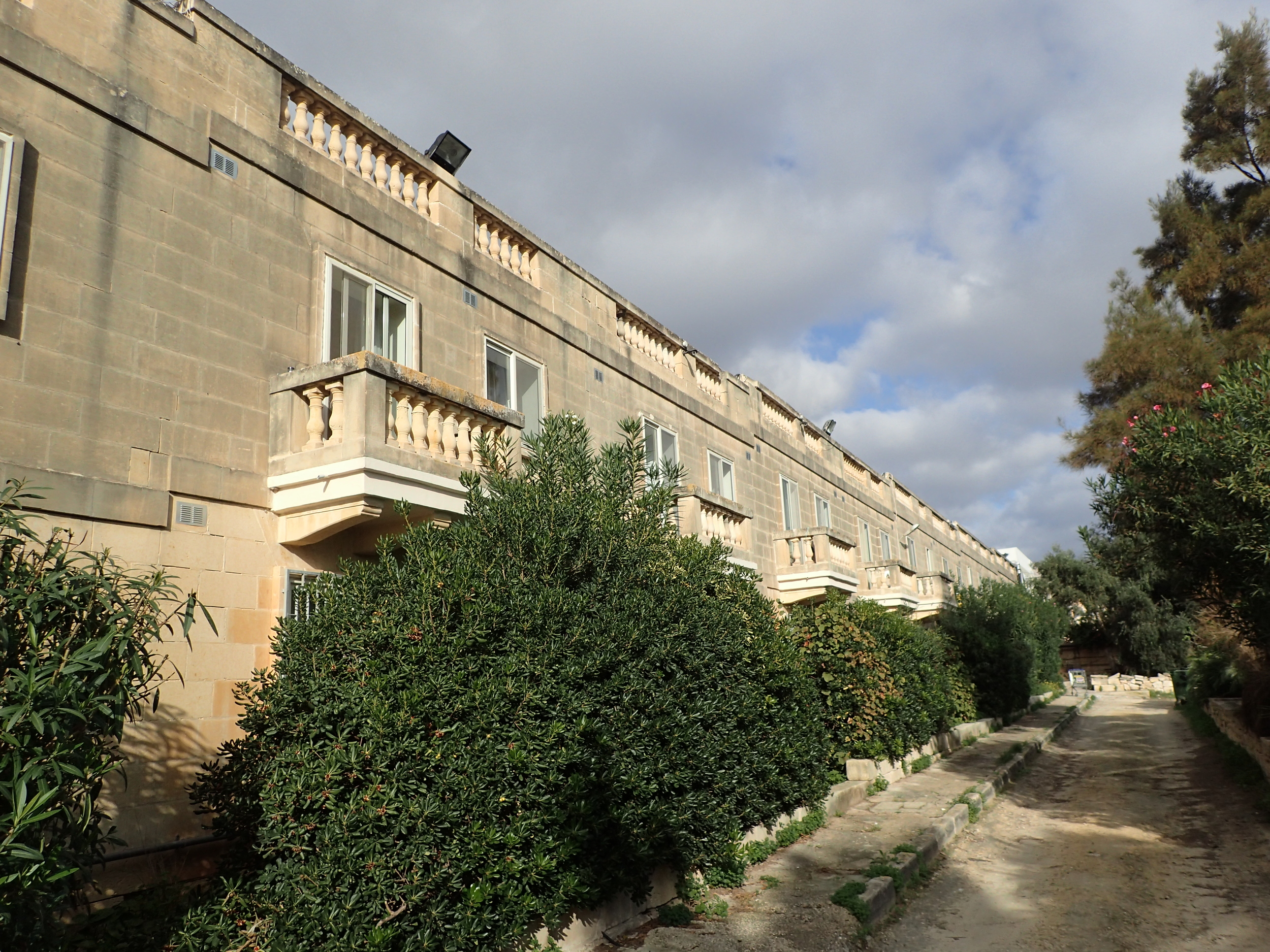 Malta University Residence as seen during the morning exercise.