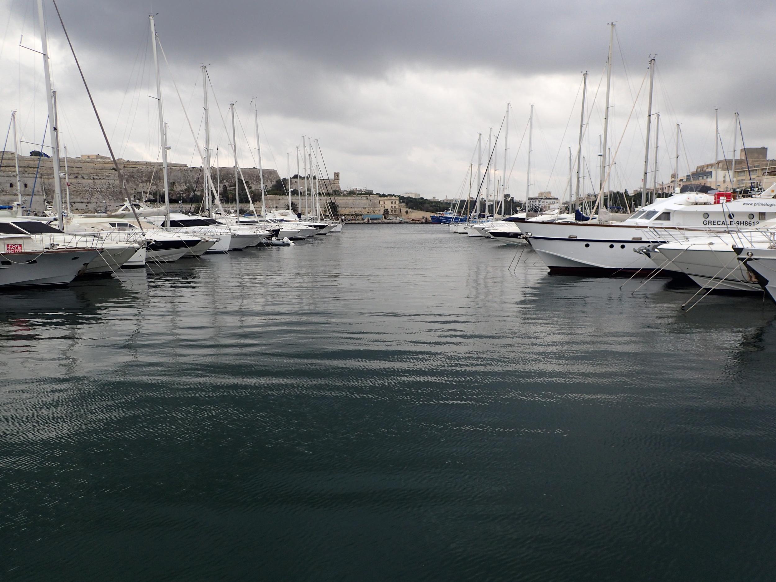 The marina between Valletta, Msida and Sliema.