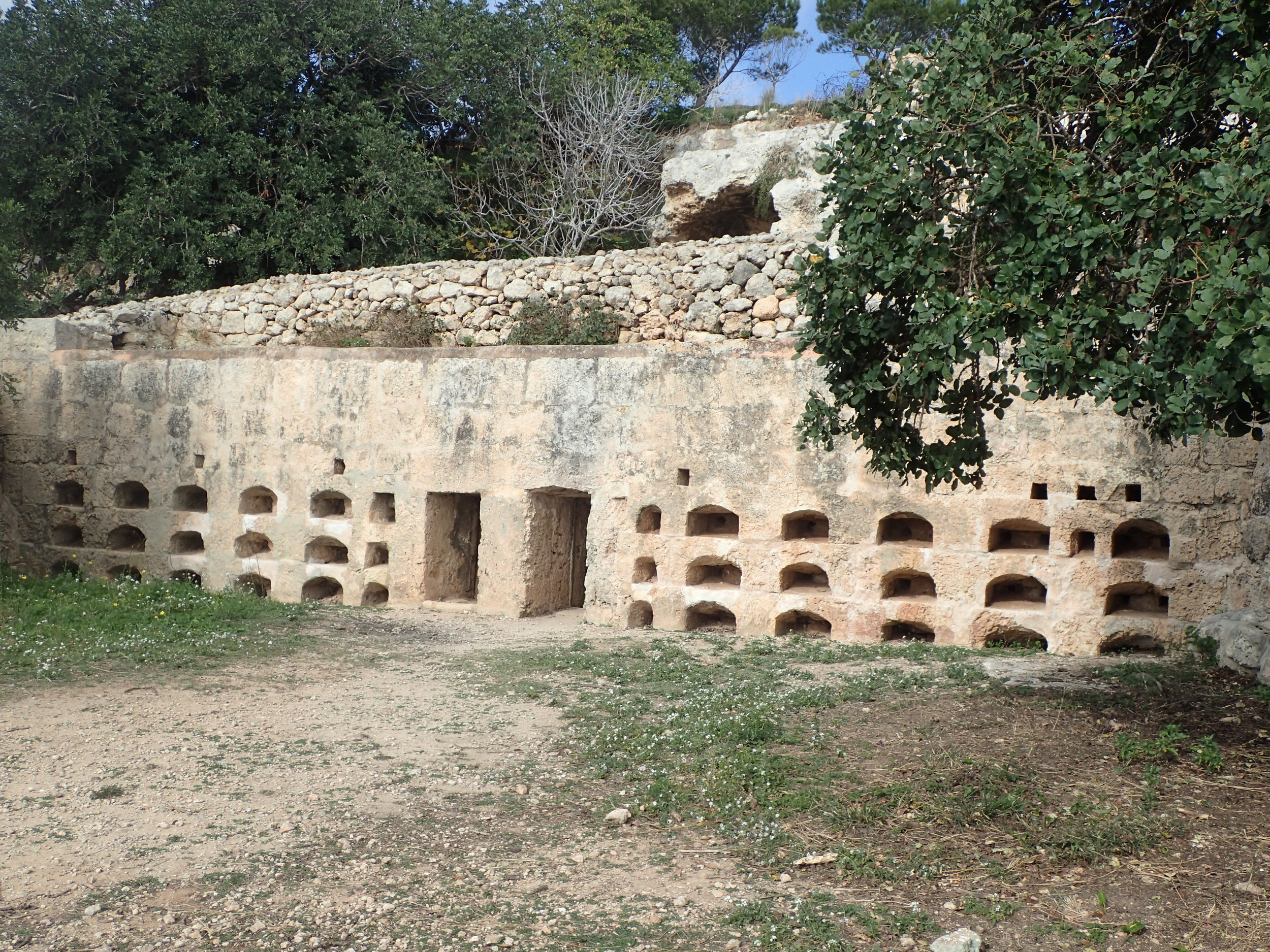 Roman Aperies, in which bees were kept and honey produced.