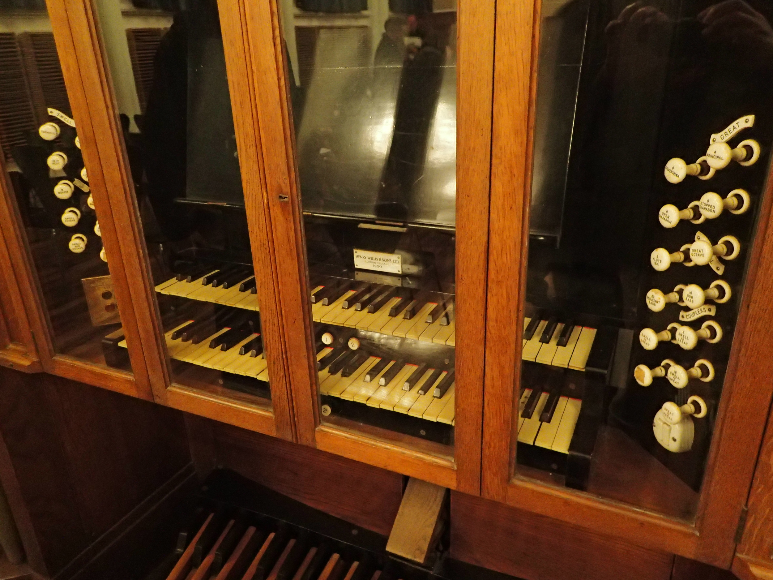 Willis organ in the Robert Samut Hall. Not well maintained though.