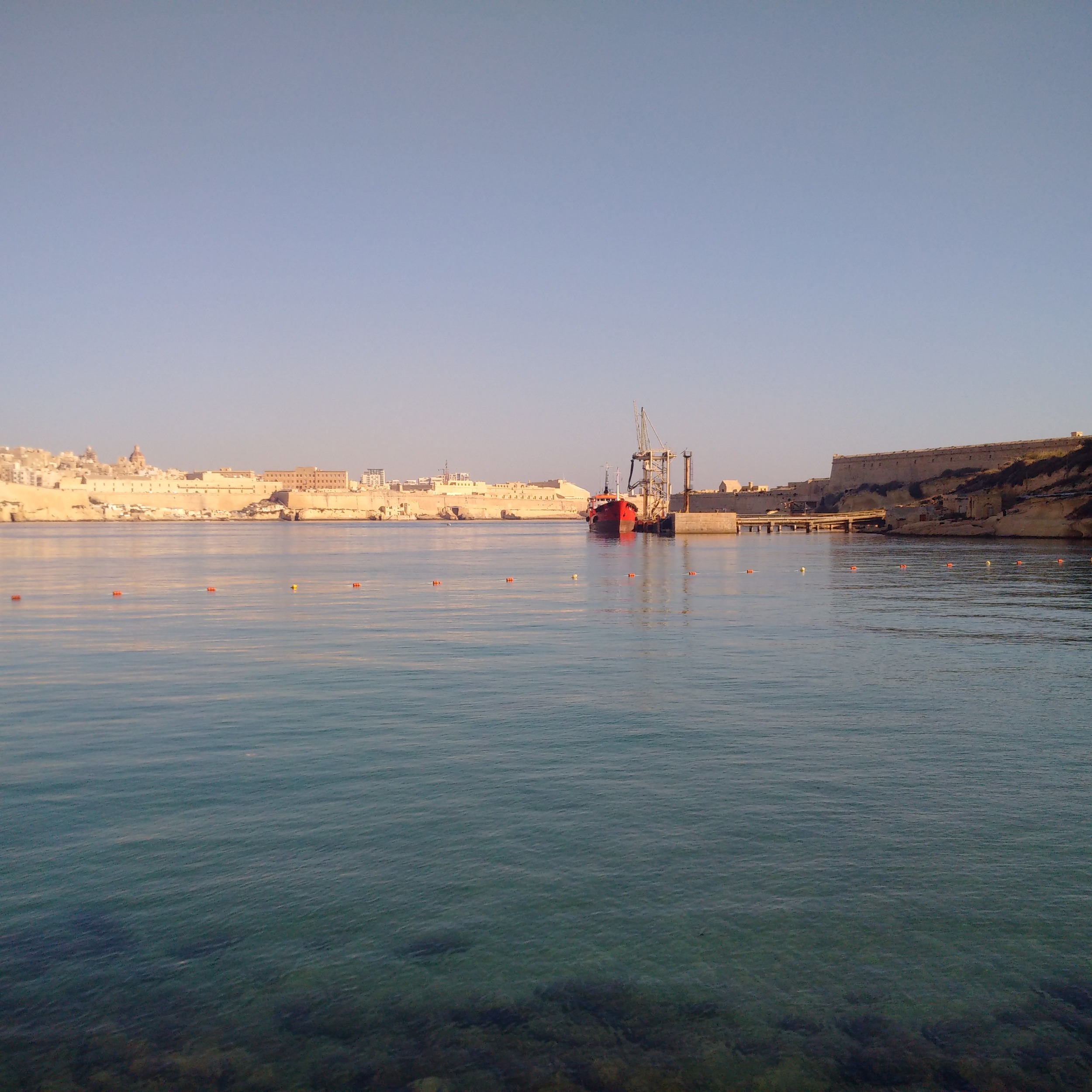 Rinella Bay (Malta) on an early morning in June 2016
