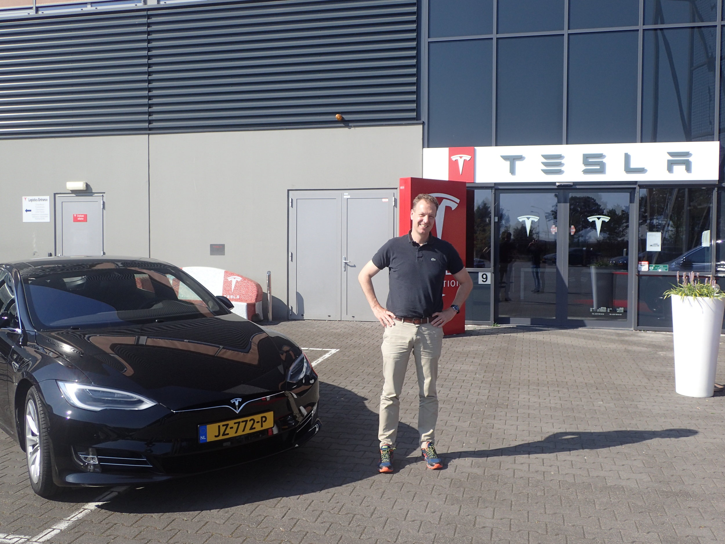 Tesla at Tilburg. After a great test drive of the Model S (photo snapped by Jeroen Kuilman).