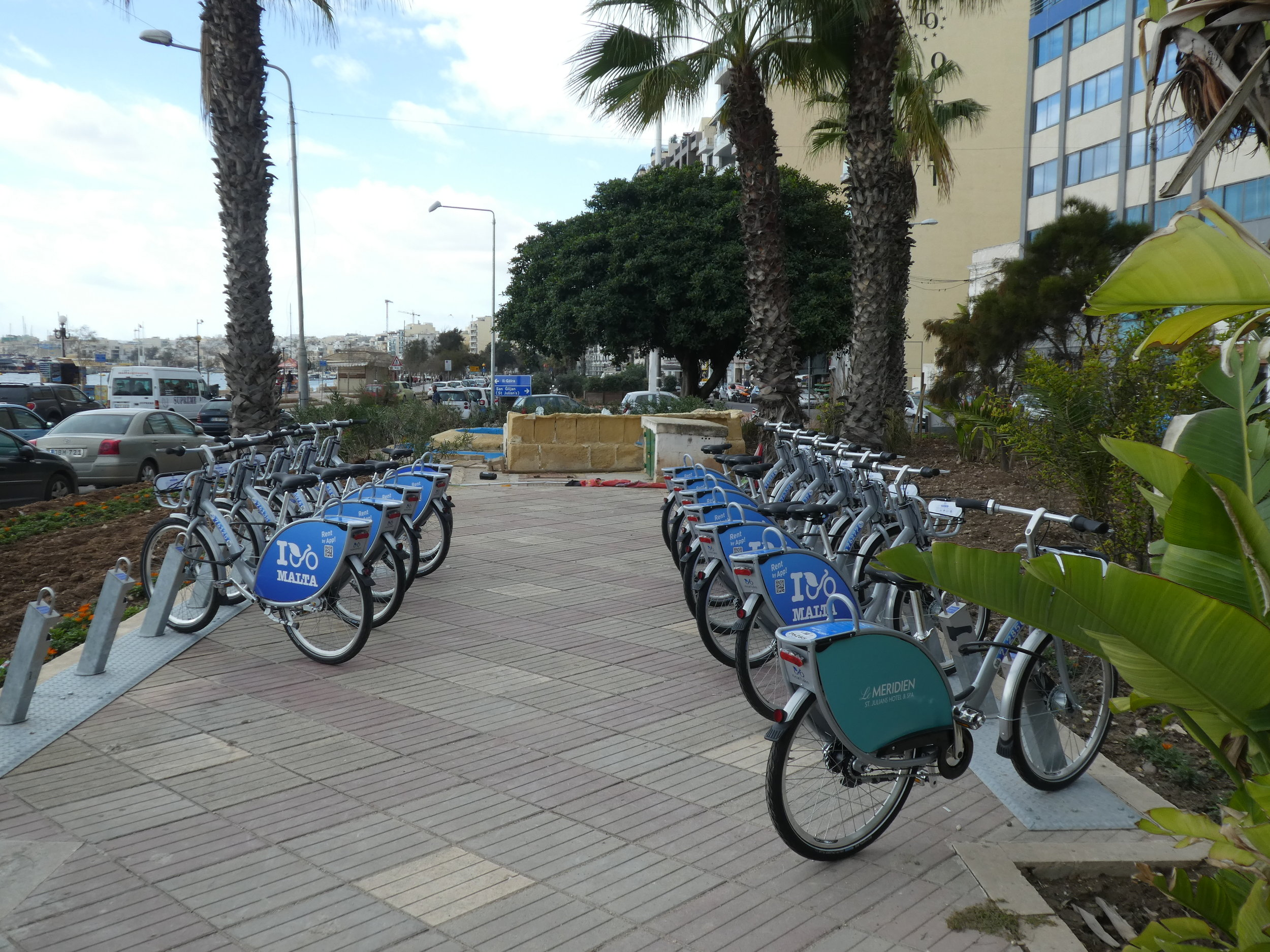 Nextbike station in Sliema, opposite the ferry pier.