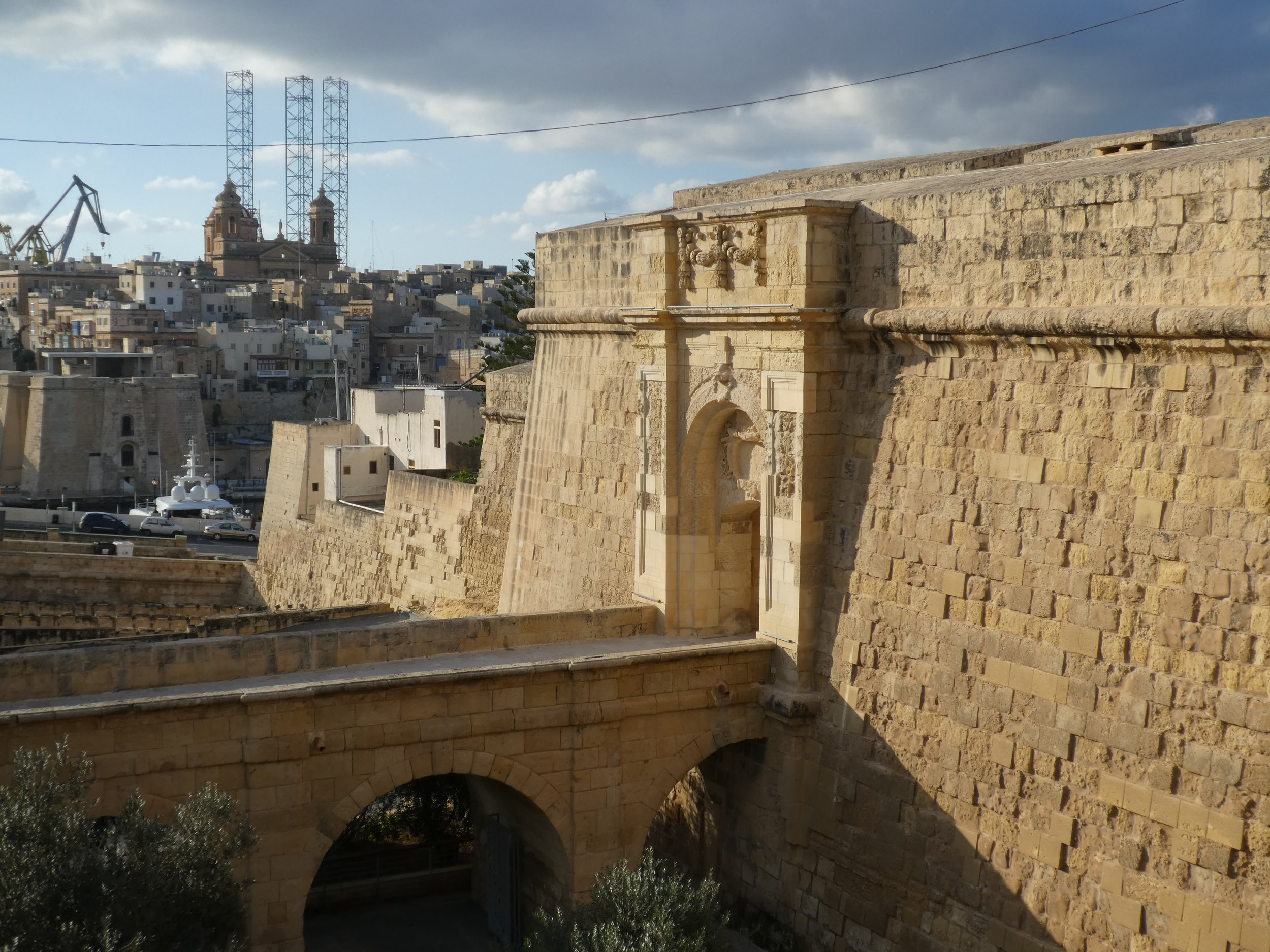 After 15 minutes walk, exiting the Birgu Ditch