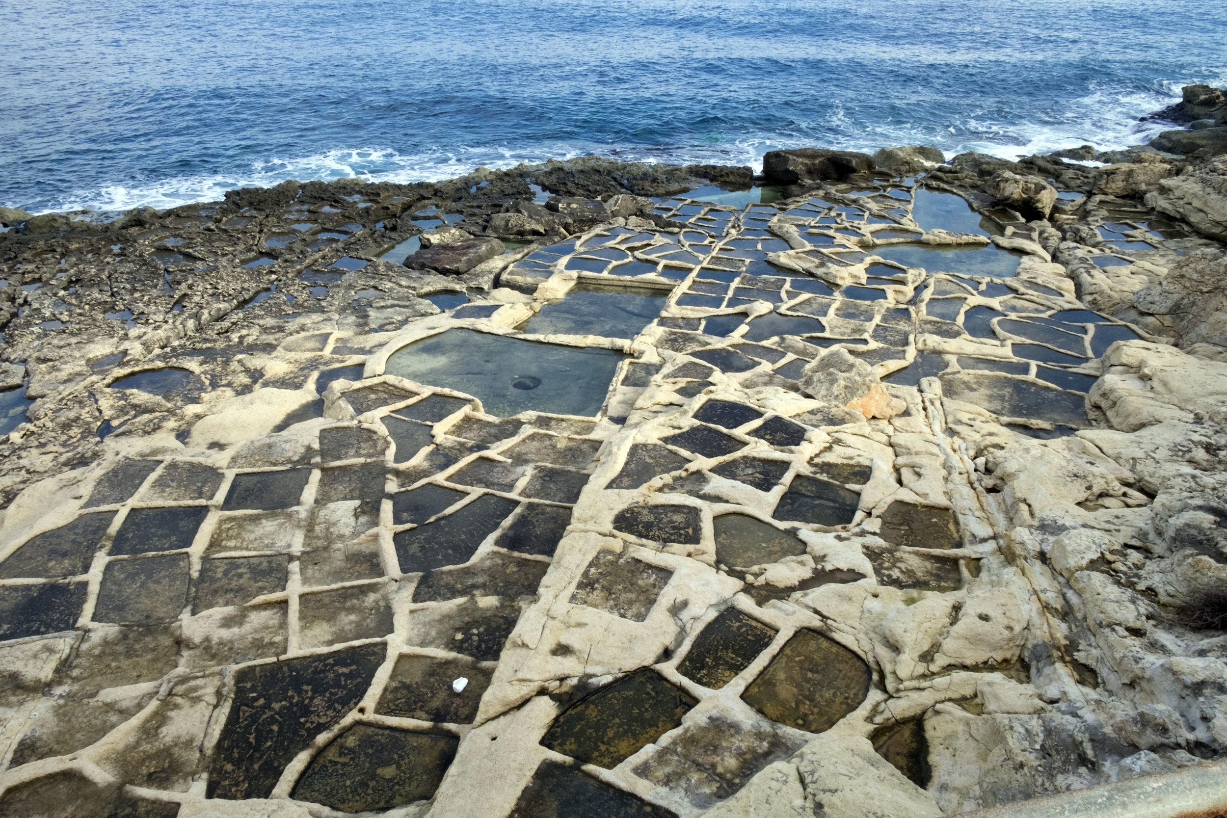 Salt pans South of Fort Rinella (Malta)