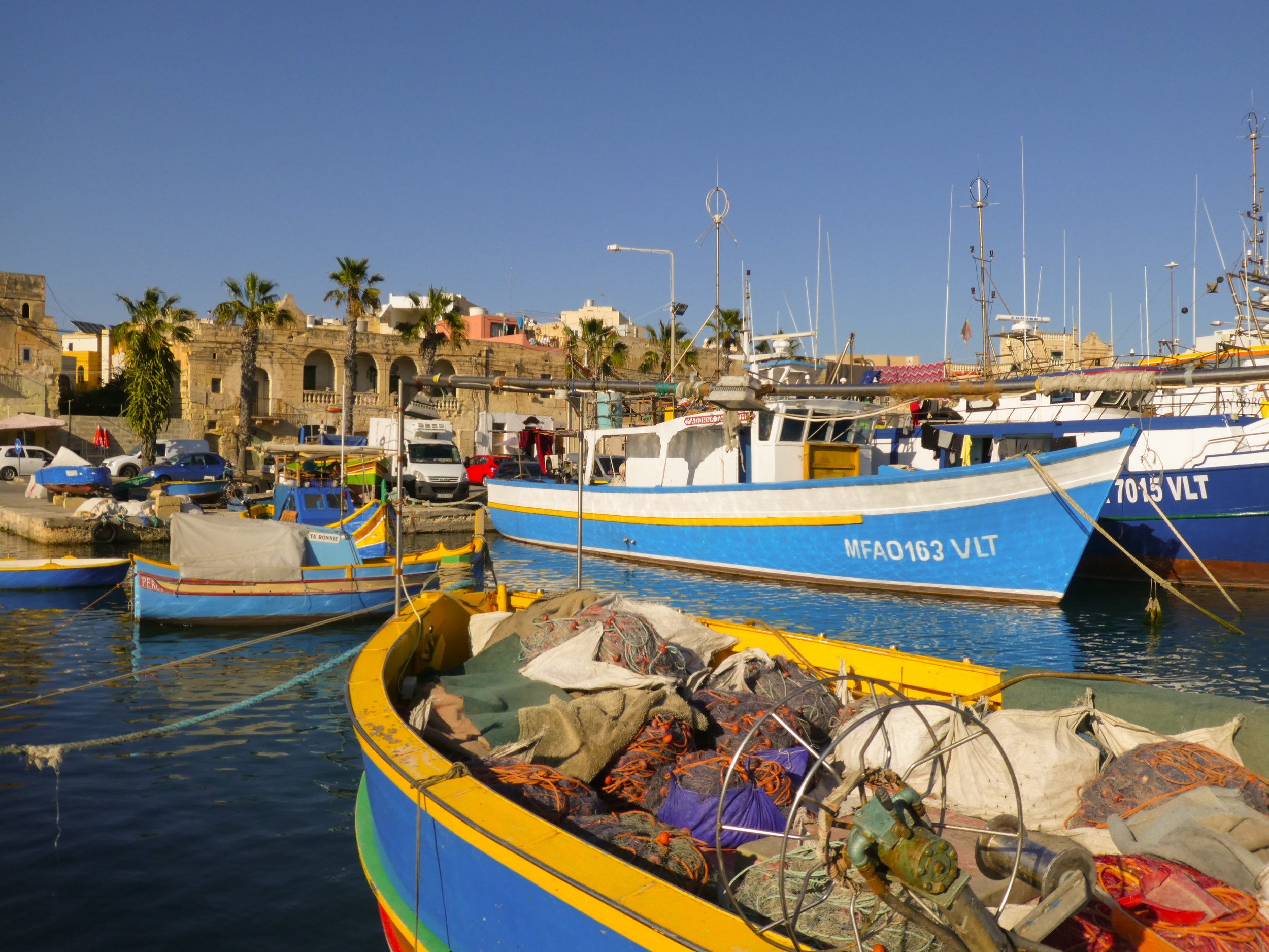 View on the Marsaxlokk fishing village