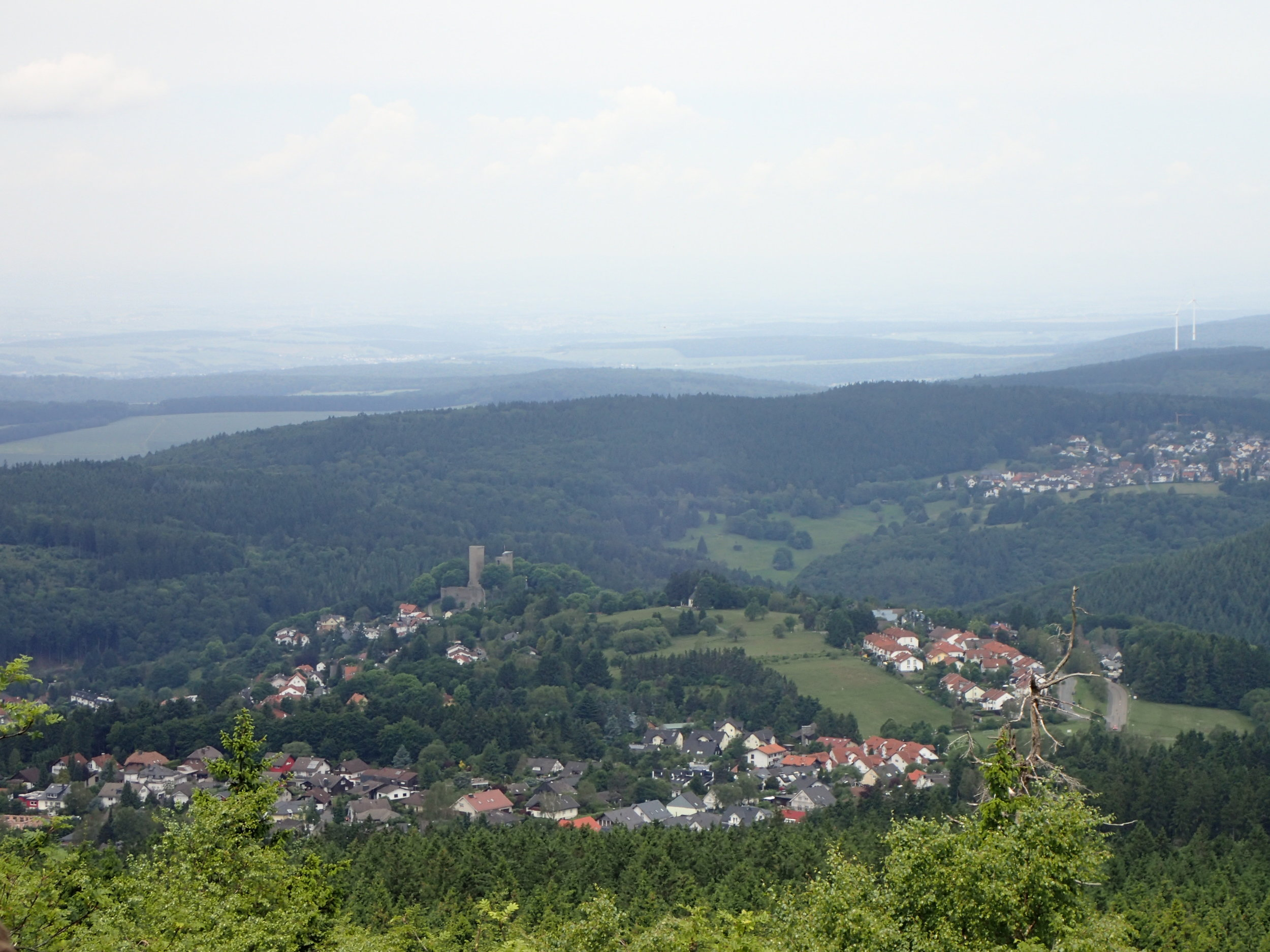 View from Grosser Feldberg into the Taunus.