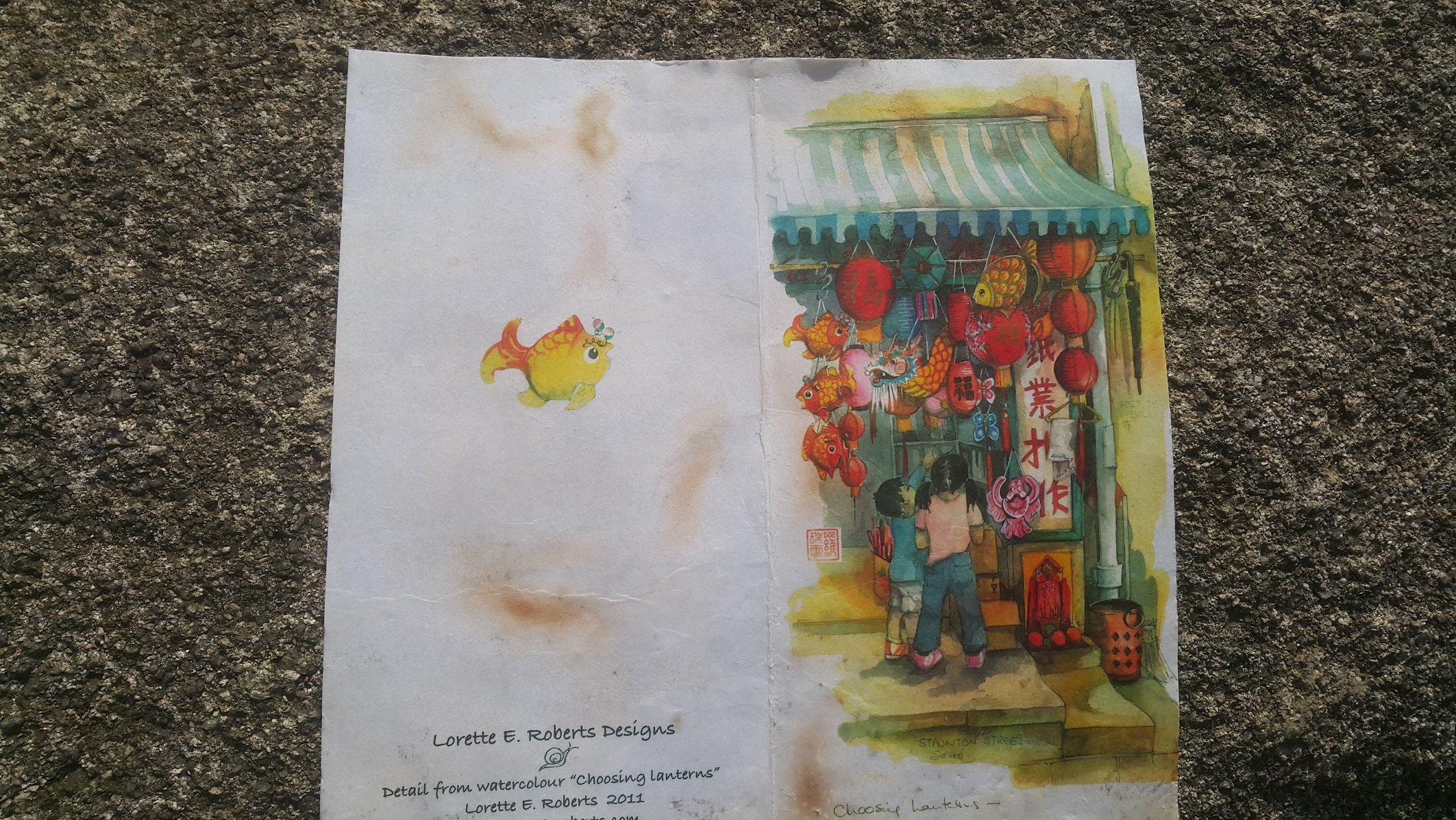 The cover of the letter I left on Mount Stenhouse, found and photographed by Alex Leung