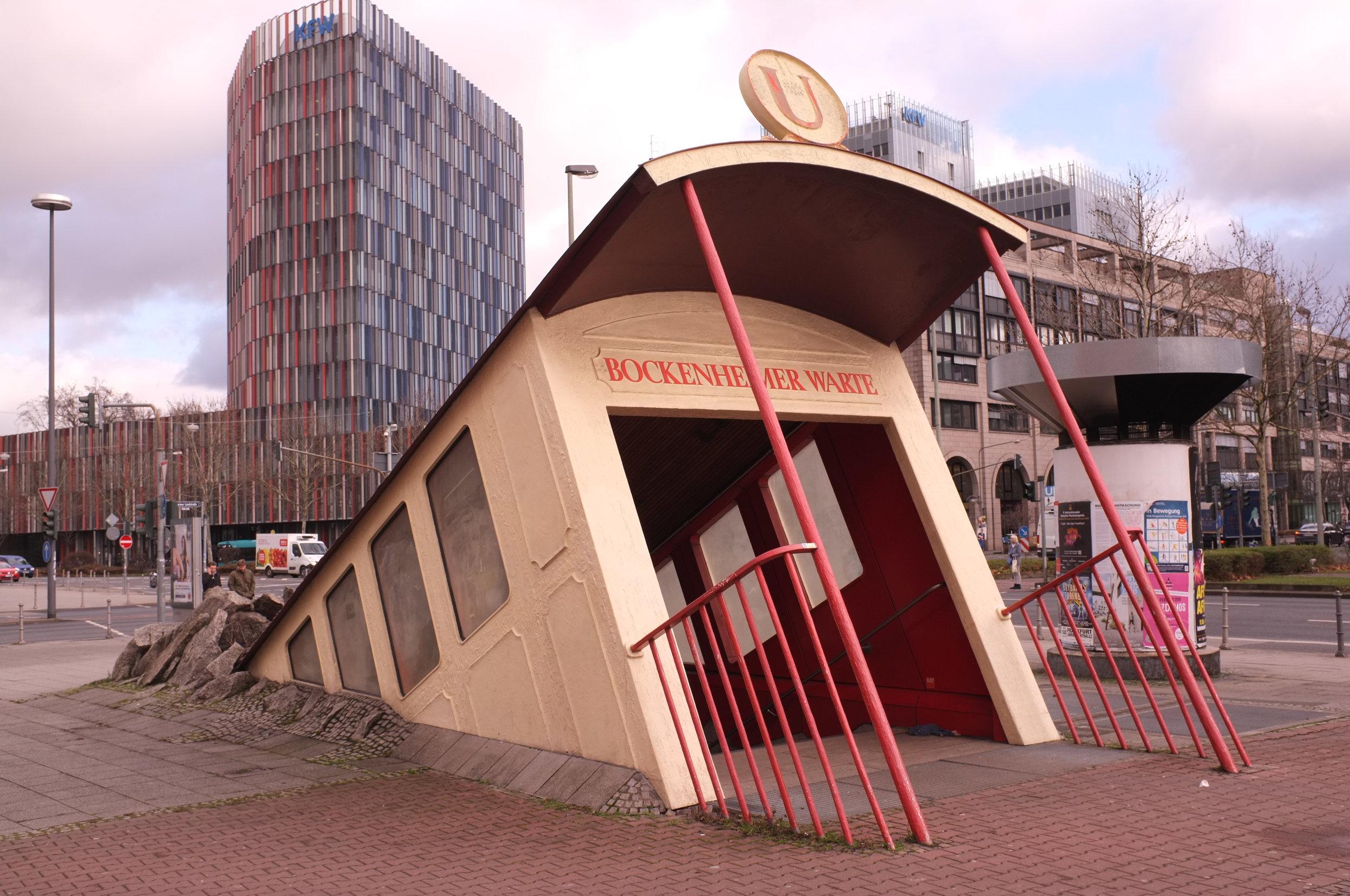 Subway entrance Bockenheimer Warte