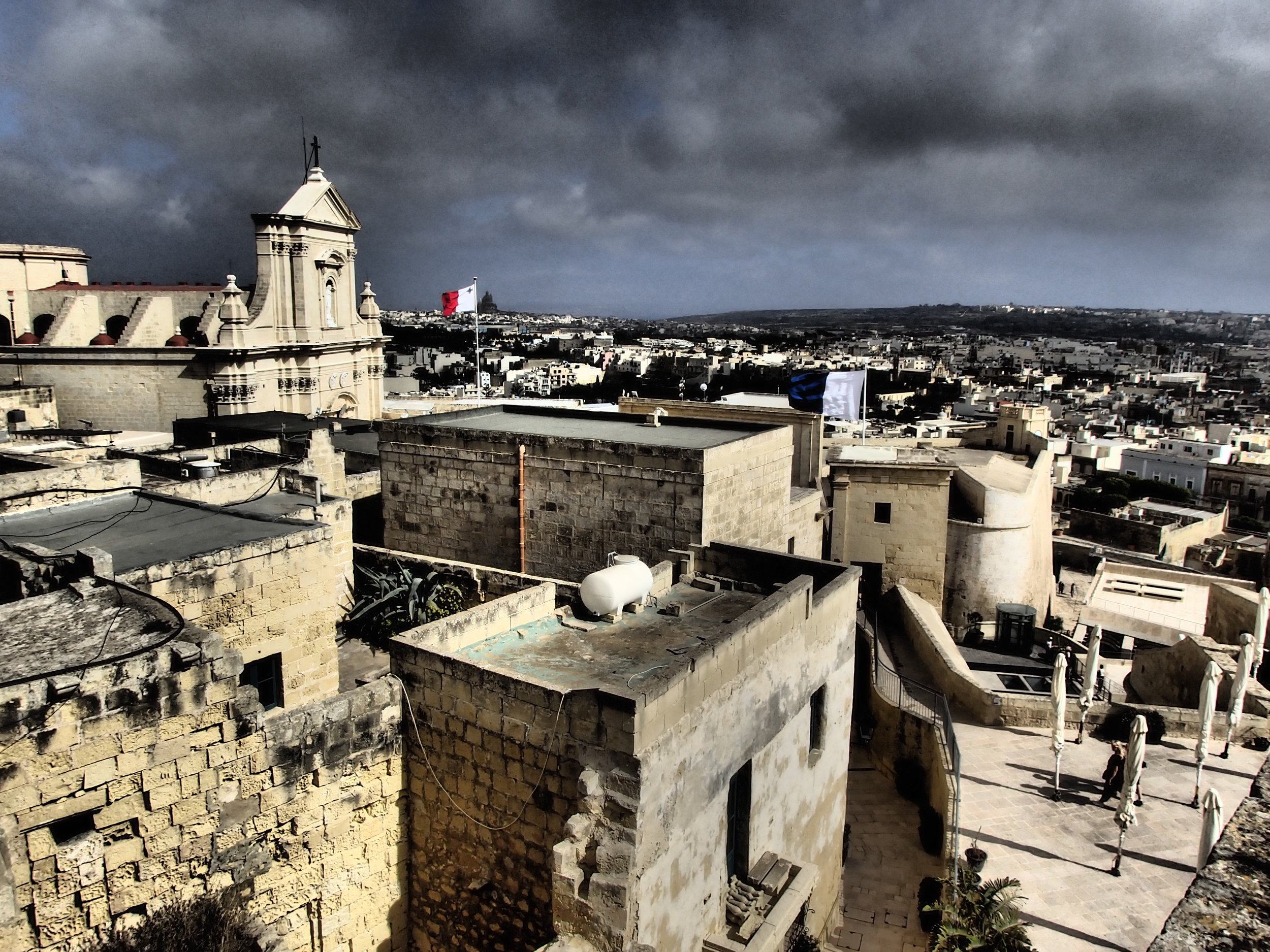 View on the Rabat Citadelle (Victoria in colonial wording) in Gozo, where the pace is still lower than on the main island Malta.