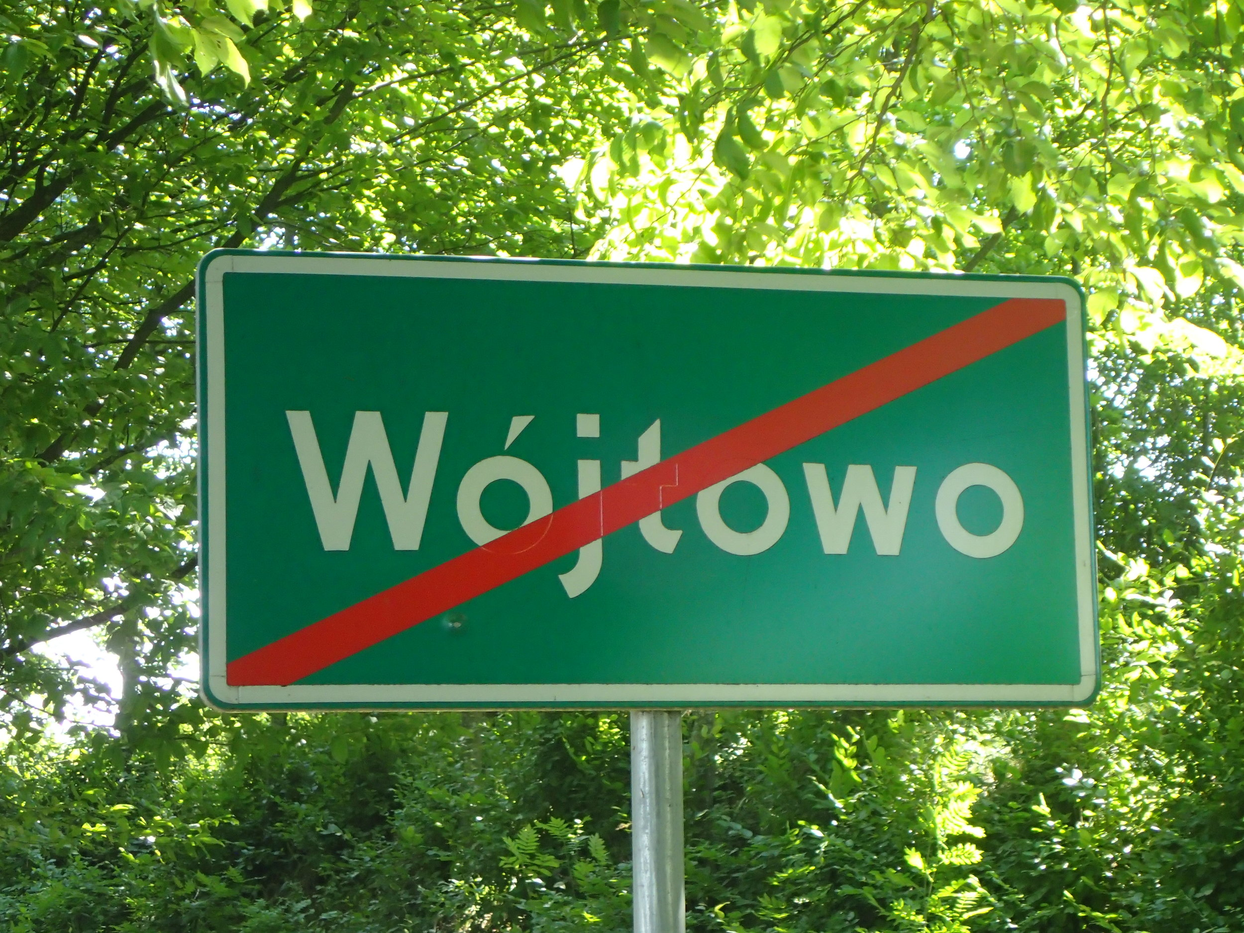 The exit of Wójtowo (formerly Voigtsdorf)