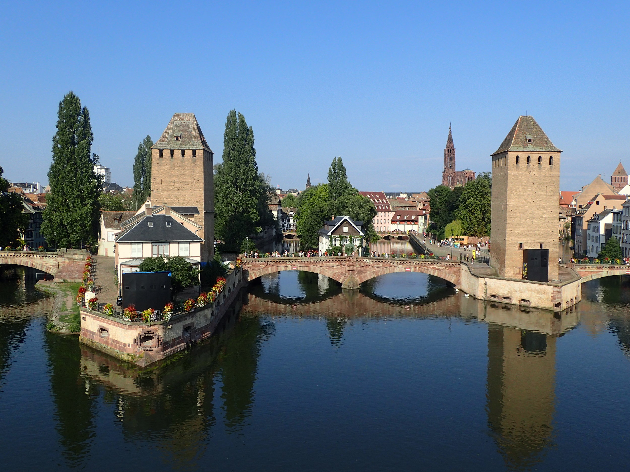 "View on ""La petit France"" in Strasbourg"