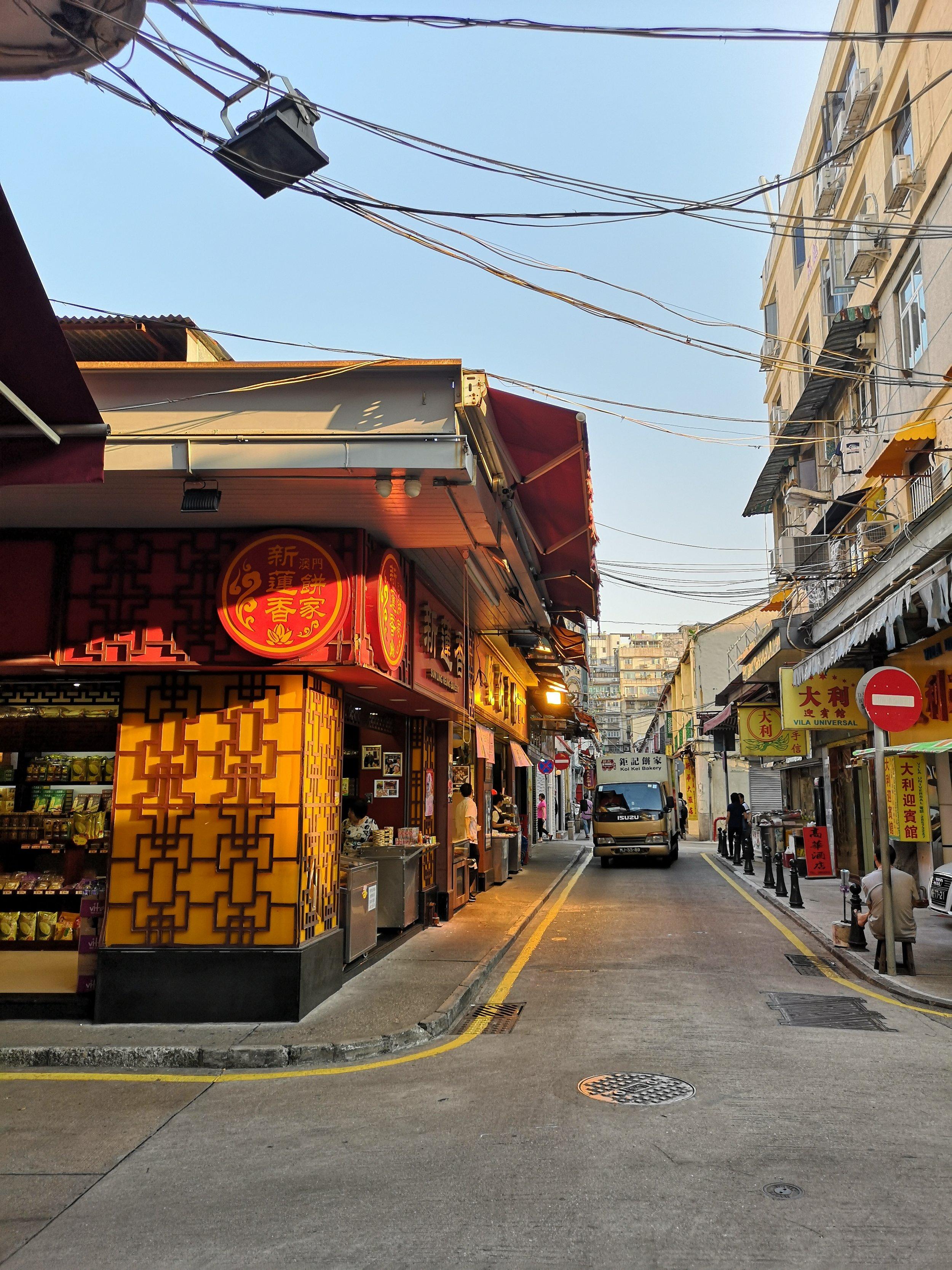 Street in Macau, where I stayed.