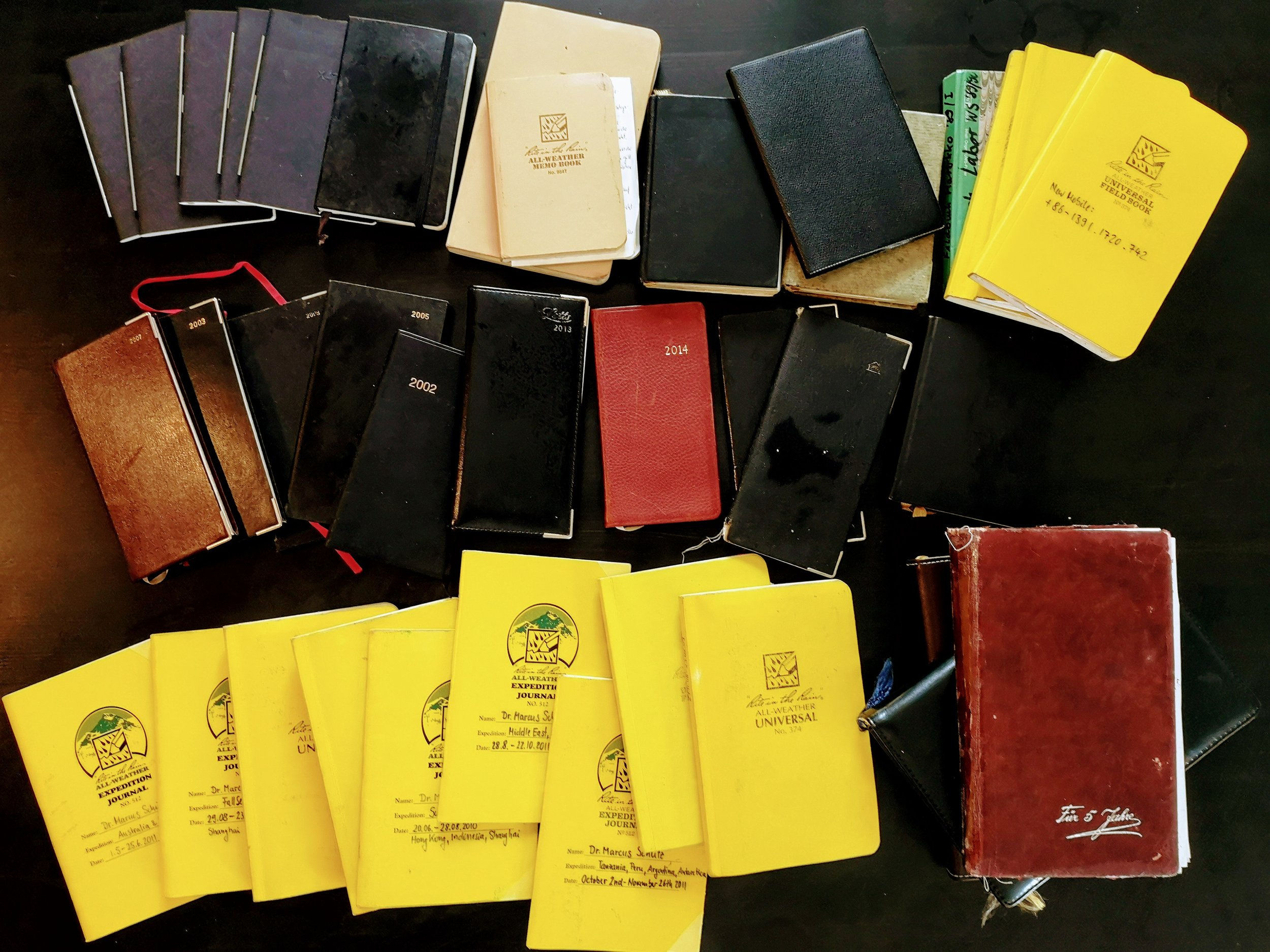 Back in Malta, I sorted my notebooks and diaries. They cover notes from when I was twelve years old. I decided not to switch electronic on this subject (except for mere coordination). It is very nice to flip the pages.