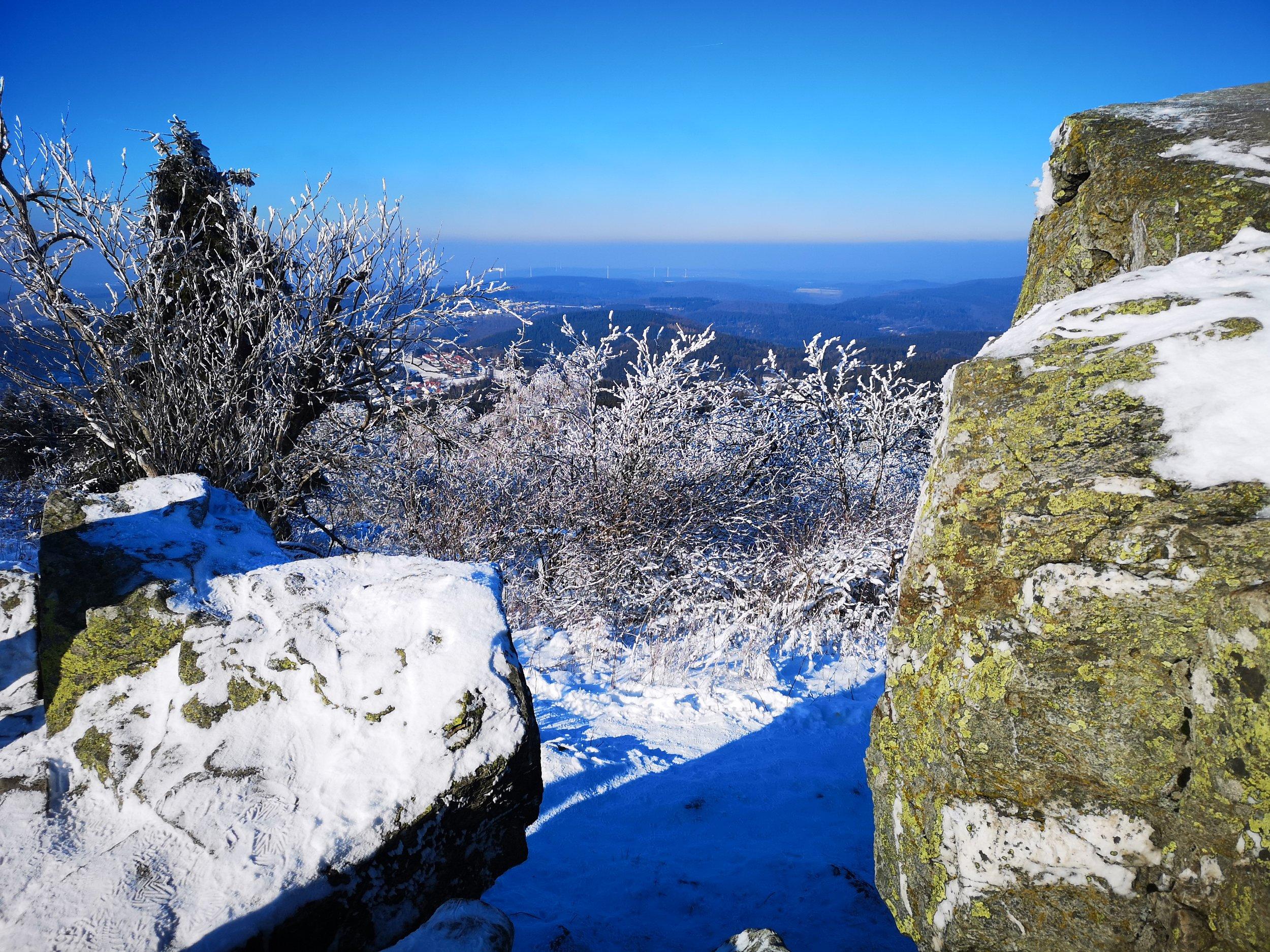 View from the highest point of Grosser Feldberg into Taunus