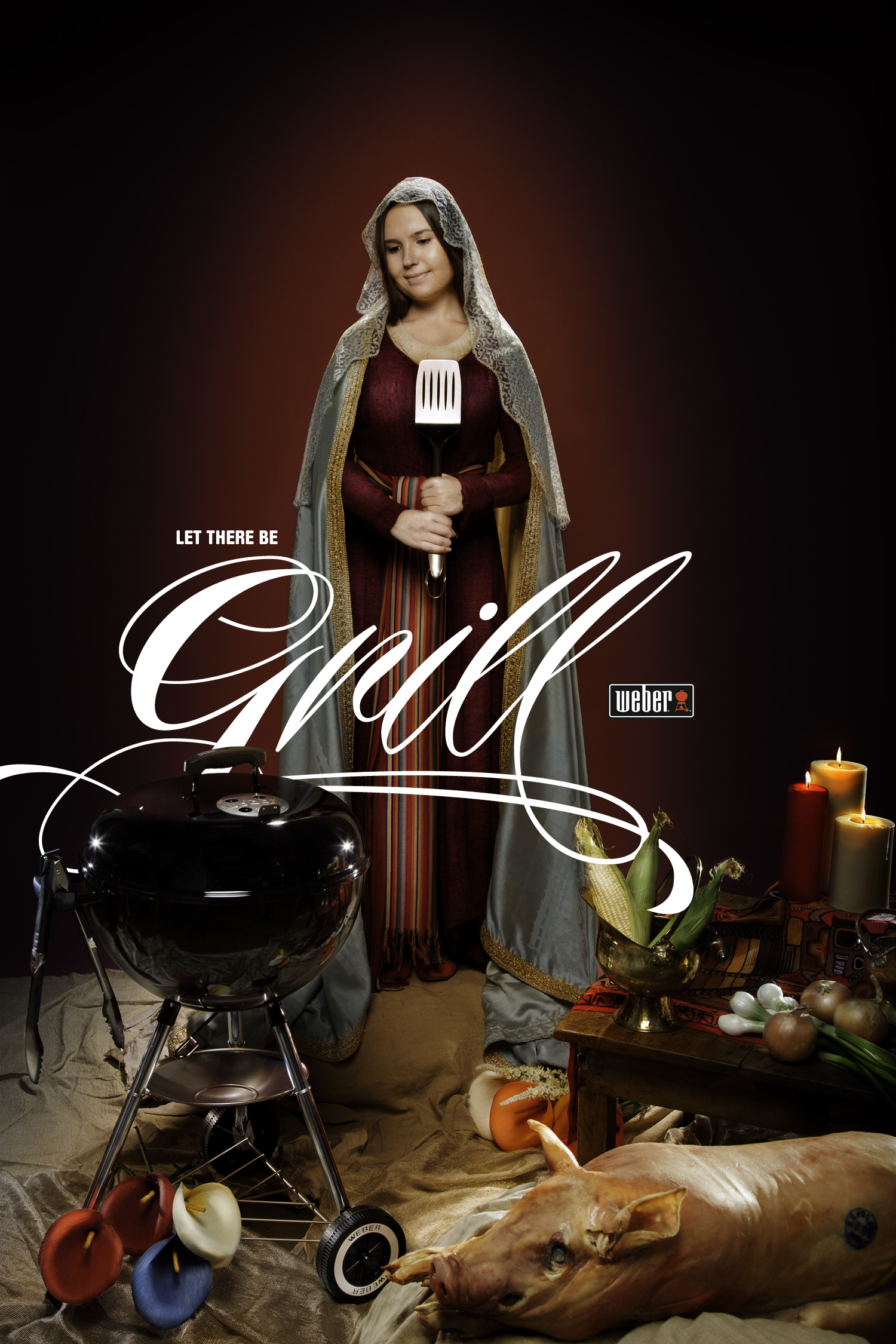 Our Lady of the Grill  Art Director / Copywriter : Chris Gilbert  Photography: J esse Narducci (portfolio: here)