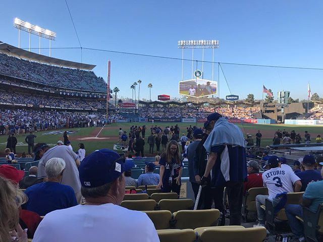 Game 2. #ITFDB _________________ _________________ _________________ #dodgers #ladetermined #LA #winforvin #worldseries #thinkblue #fallclassic