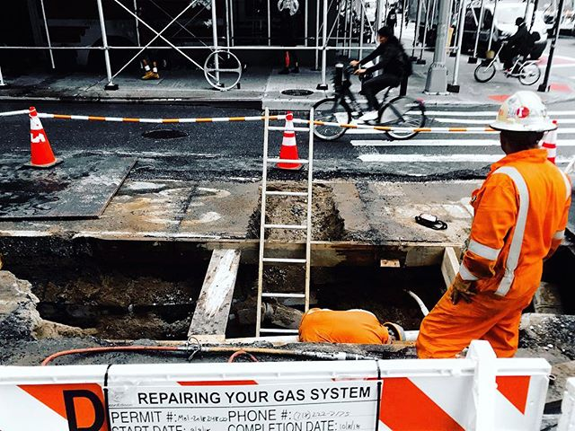 And the public gets what the public wants/But I want nothing this society's got/I'm going underground - the jam ______________ ______________ ______________ #postpunk #thejam #goingunderground #underground #nyc #construction #streetscenes #street #newyork #igers