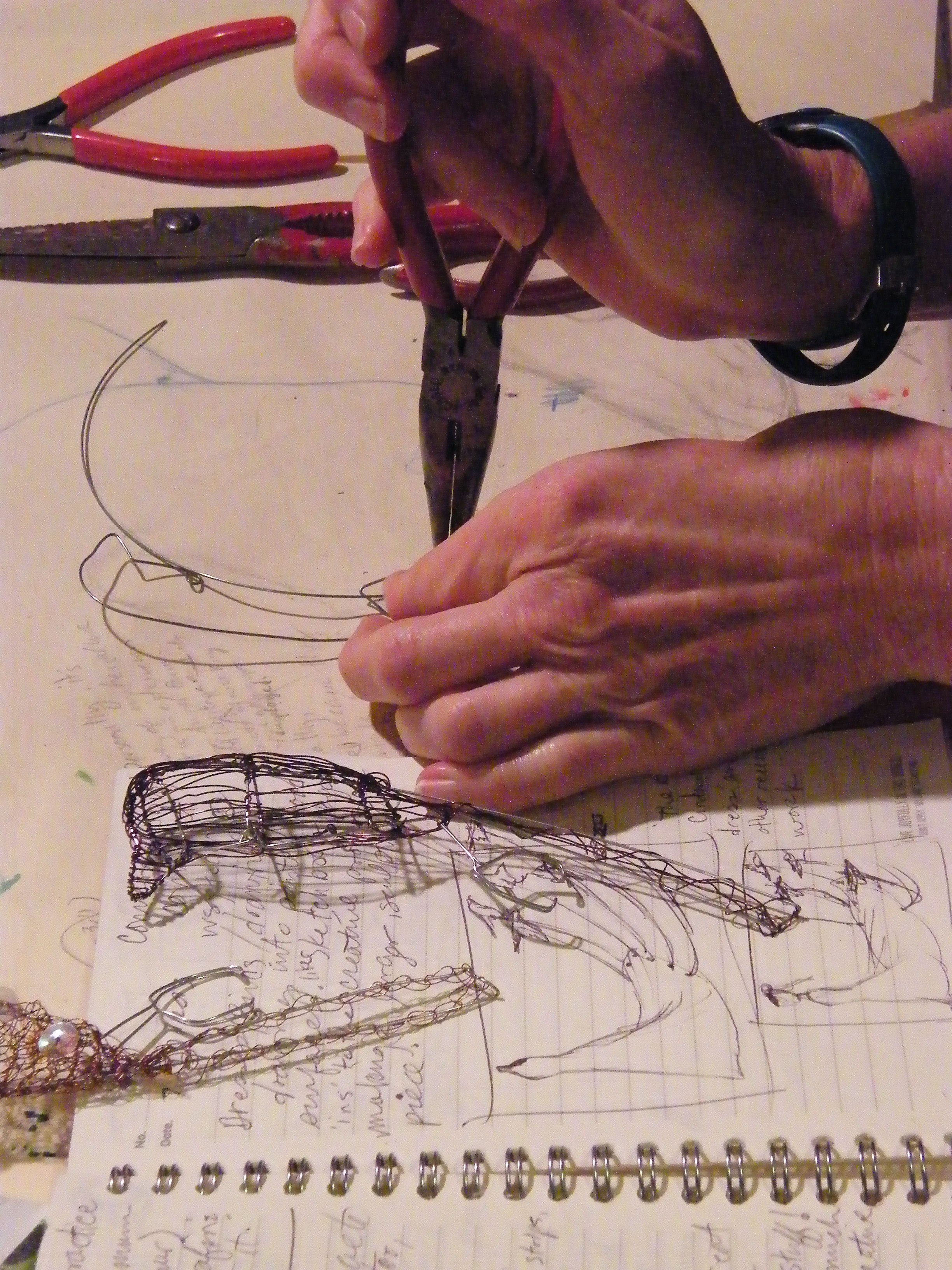 Building a better bird with wire, weaving.