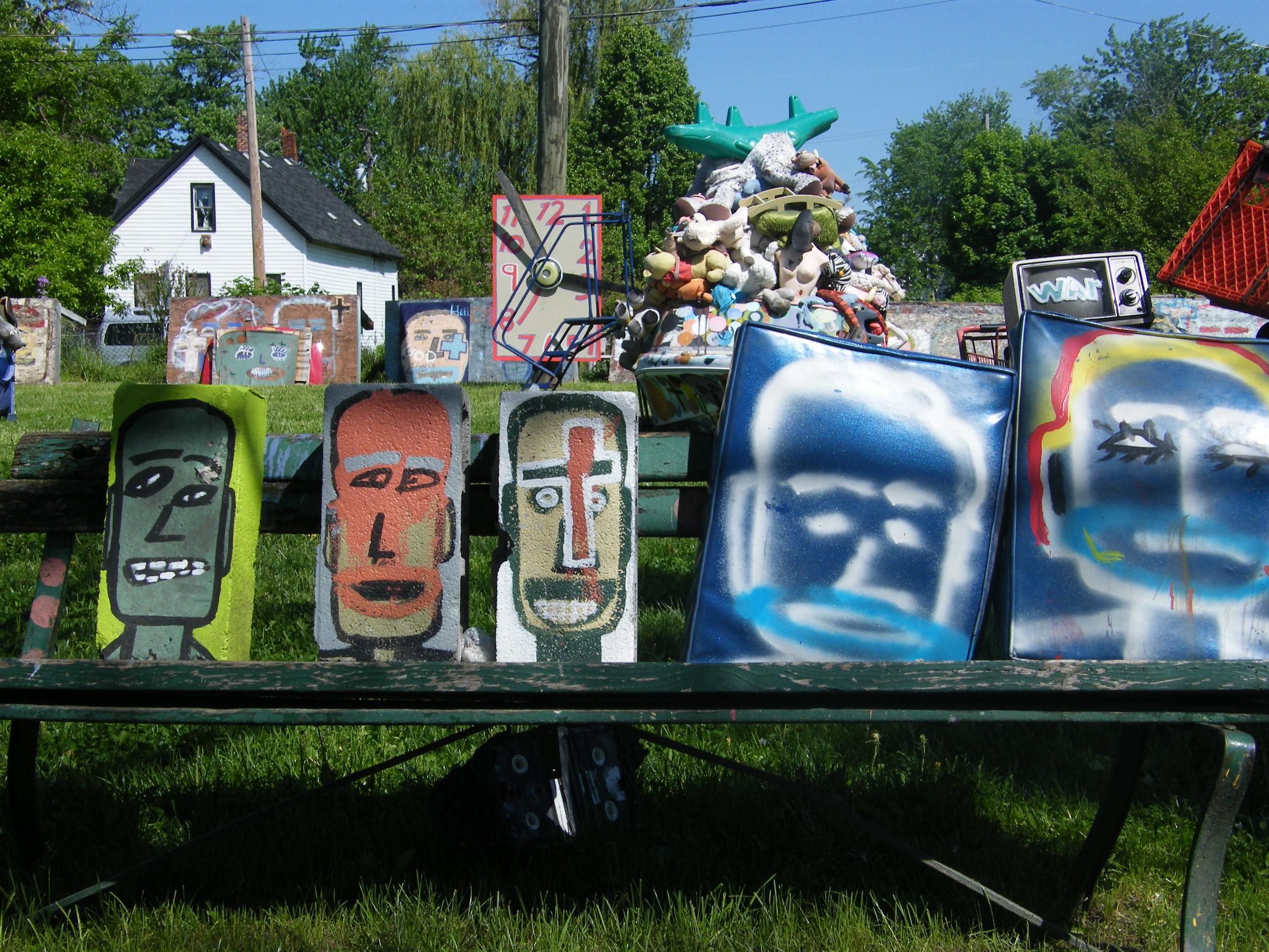 Detail Shot, The Heidelberg Project, artist Tyree Guyton, Heidelberg St., Detroit, MI