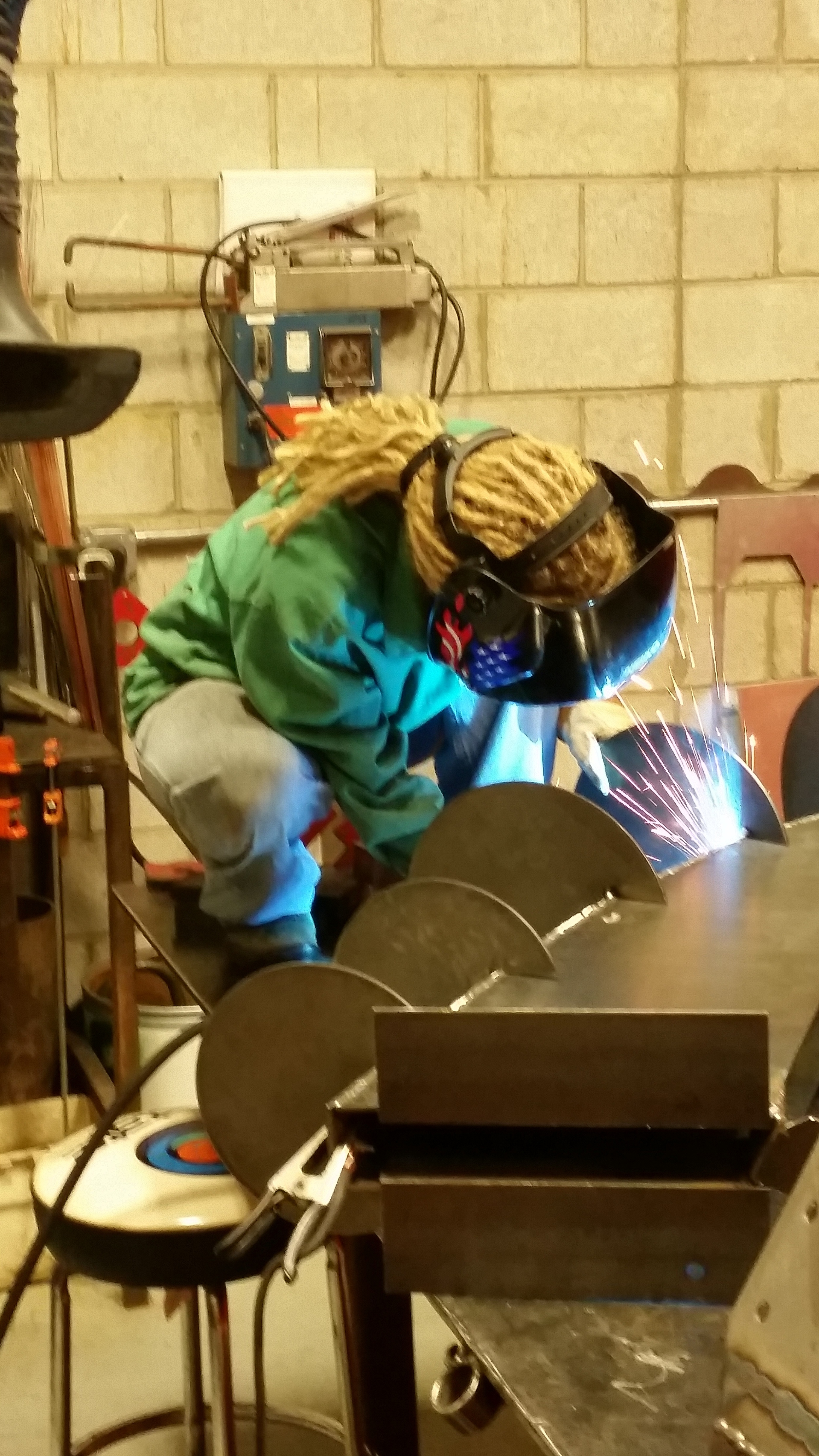 Me, welding parts together.