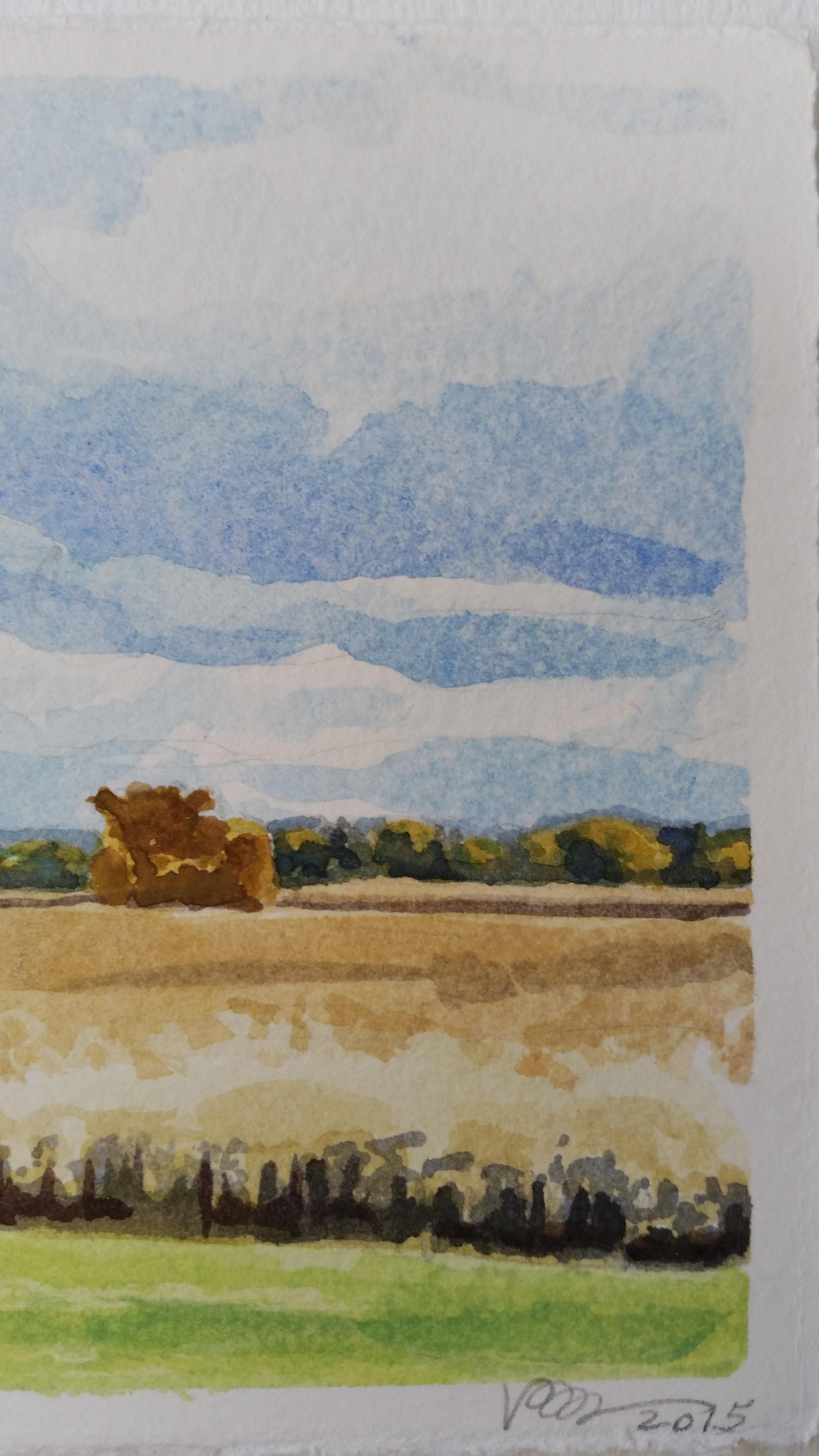 detail, November Sky Over Fields
