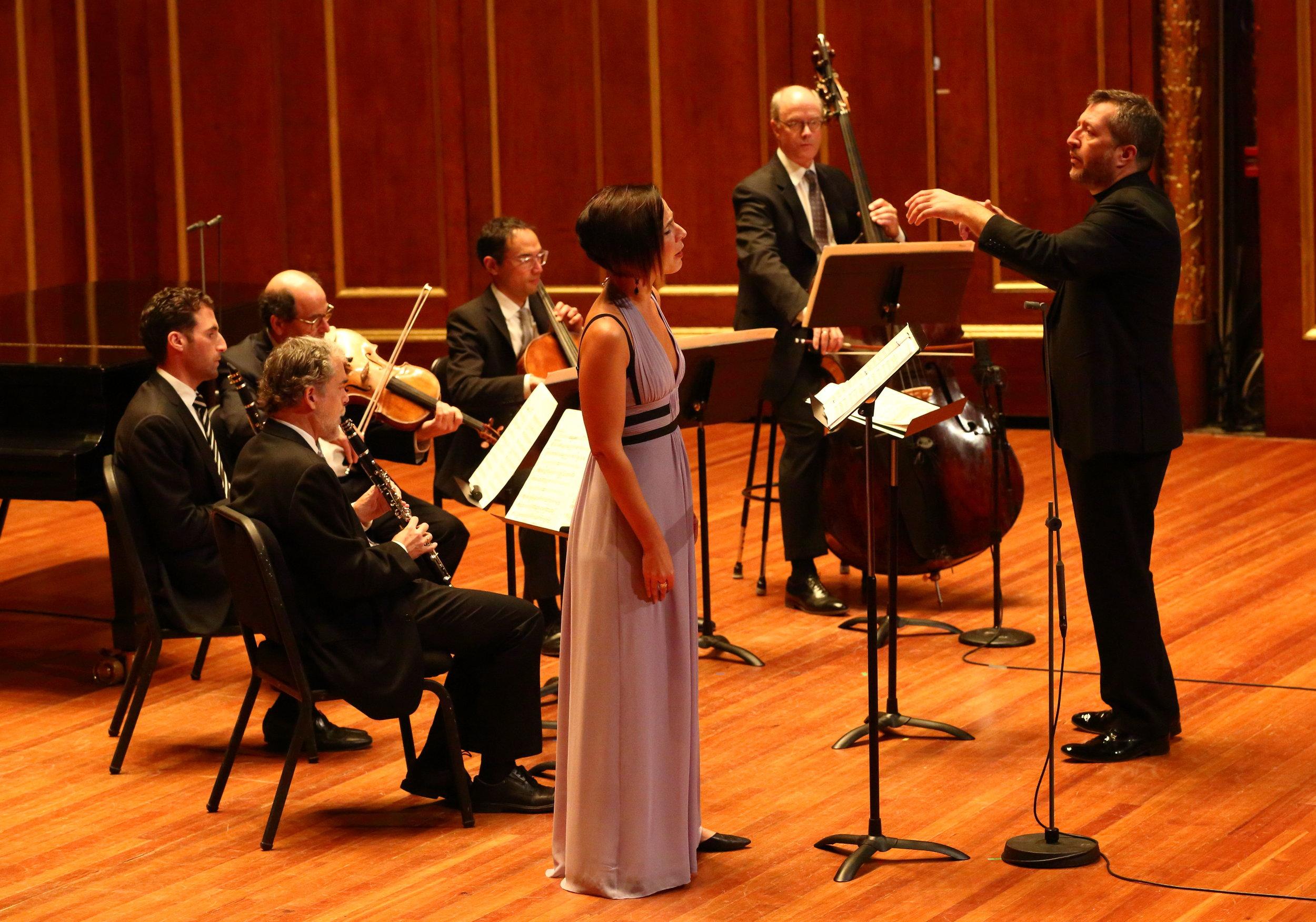 Thomas Adès conducts the Boston Symphony Chamber Players and mezzo Kelly O'Connor, Sunday, Oct. 30 at Jordan Hall. Hilary Scott photograph
