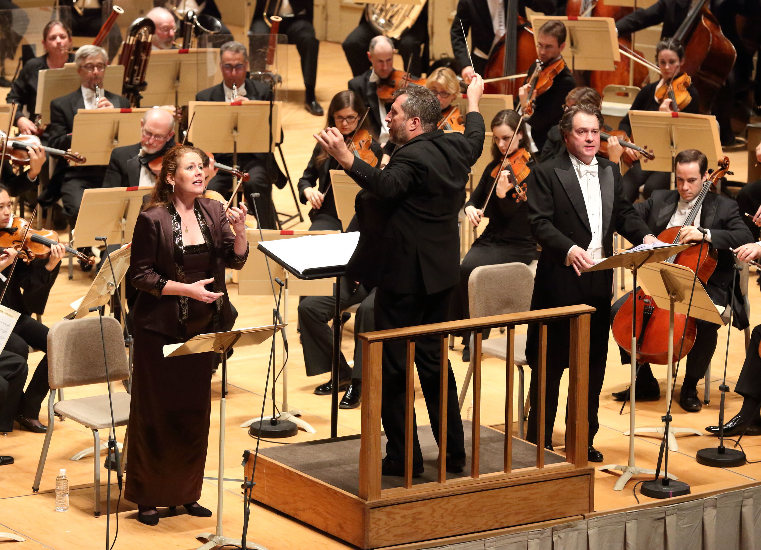 Thomas Adès conducts the Boston Symphony Orchestra, with mezzo Christianne Stotijn and baritone Mark Stone. 3 November 2016.