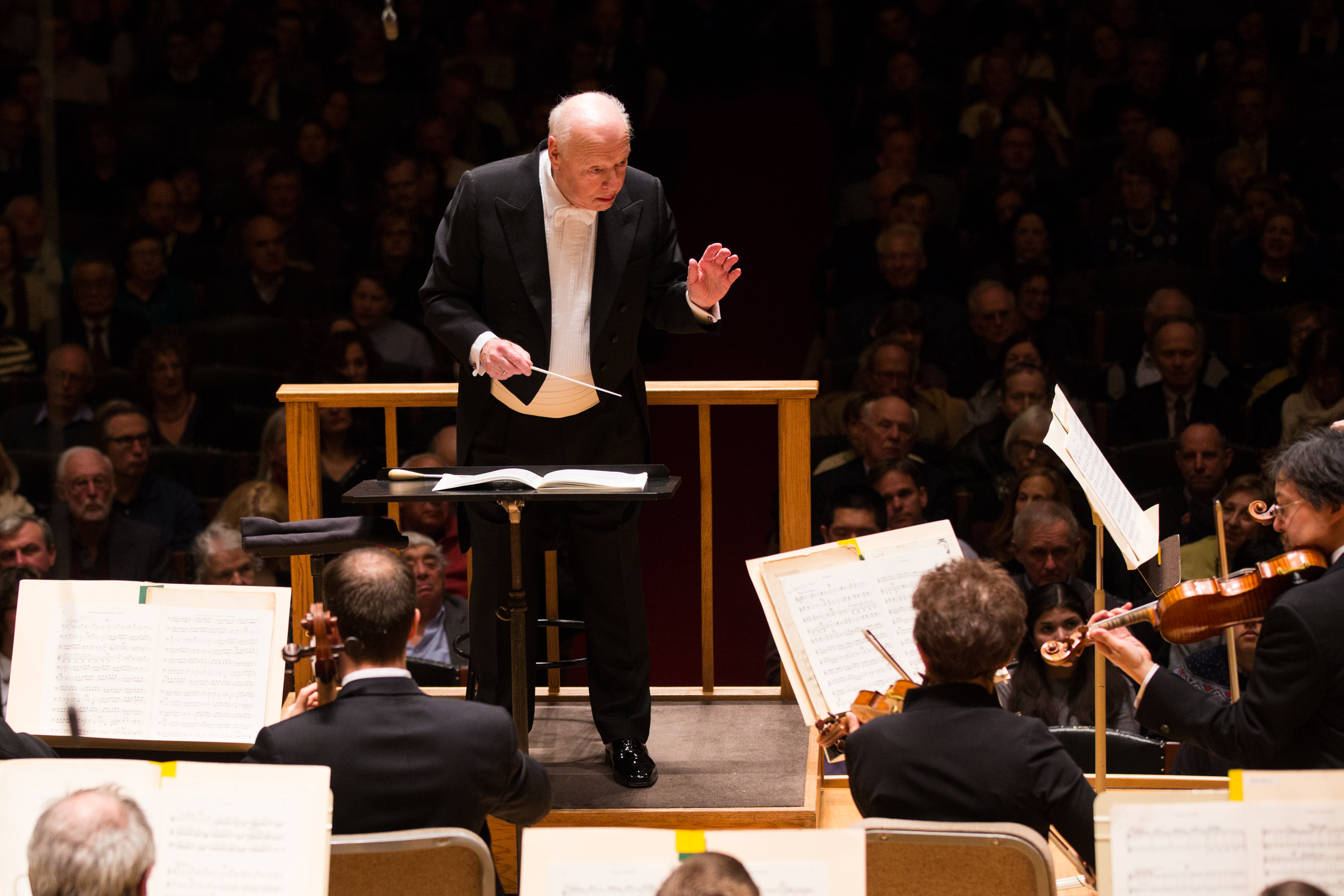 Bernard Haitink conducts the Boston Symphony Orchestra, March 16, 2017. Robert Torres photograph