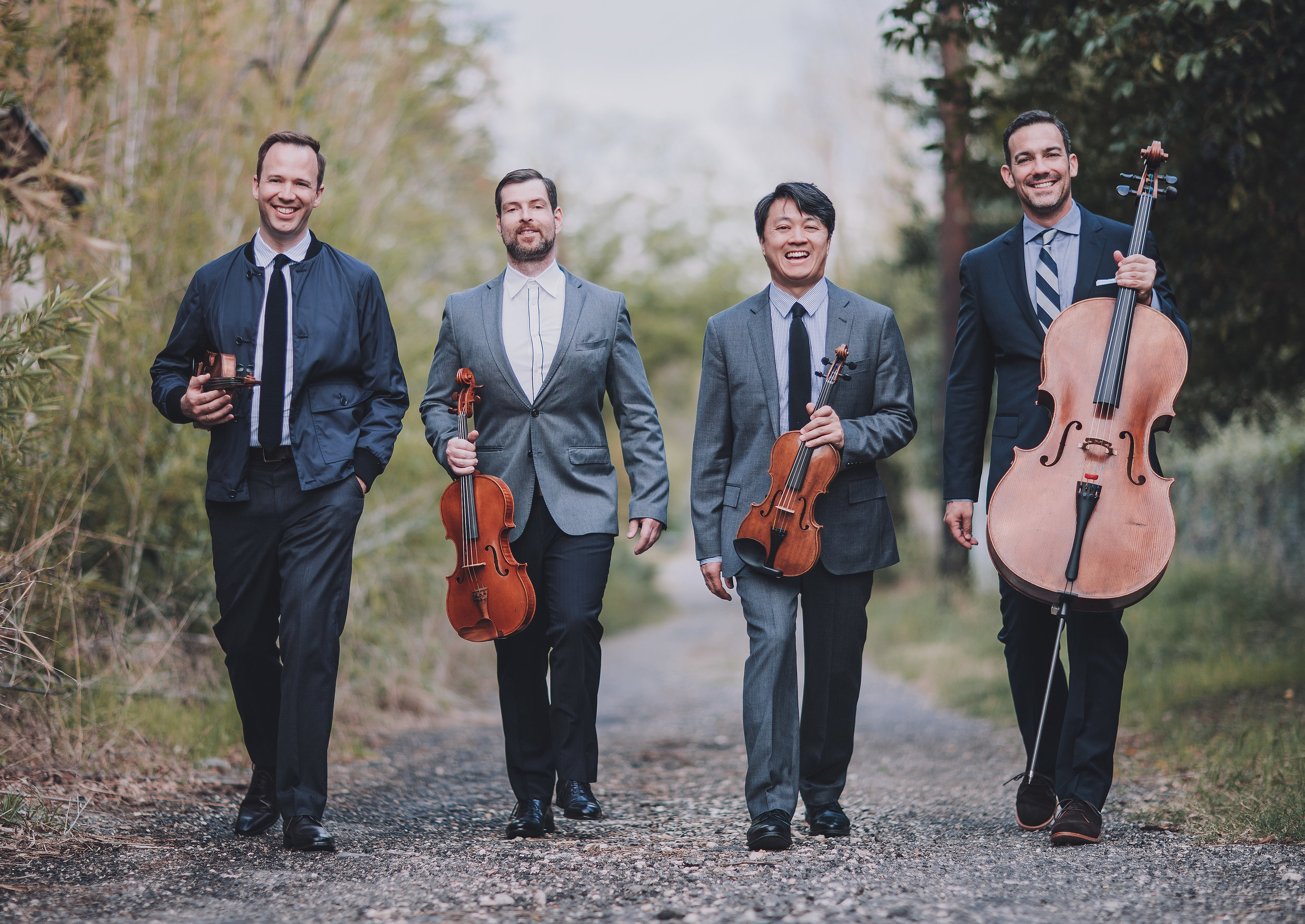 William Fedkenheuer, John Largess, Daniel Ching, Joshua Gindele: the Miró Quartet, who joined A Far Cry at Jordan Hall Friday evening.