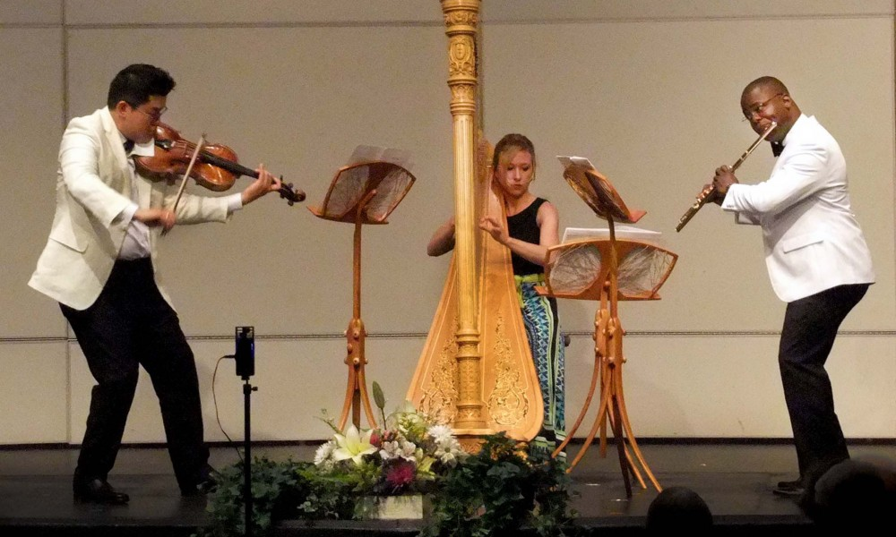 Myriad Trio plays at the Kingston Chamber Music Festival, on the campus of the University of Rhode Island.