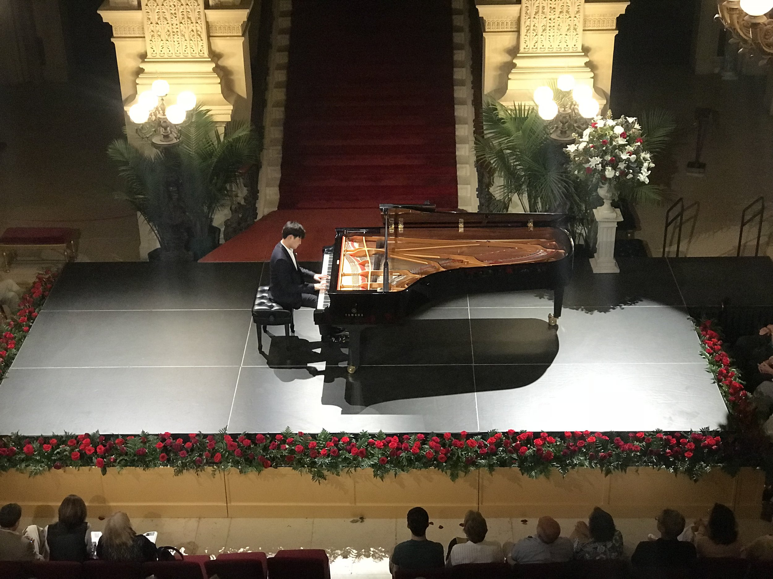 Yekwon Sunwoo, performing Grainger, Brahms, Schubert, Hamelin and others, Thursday, July 12 in the Breakers at the Newport Music Festival. Dayla Arabella Santurri photograph