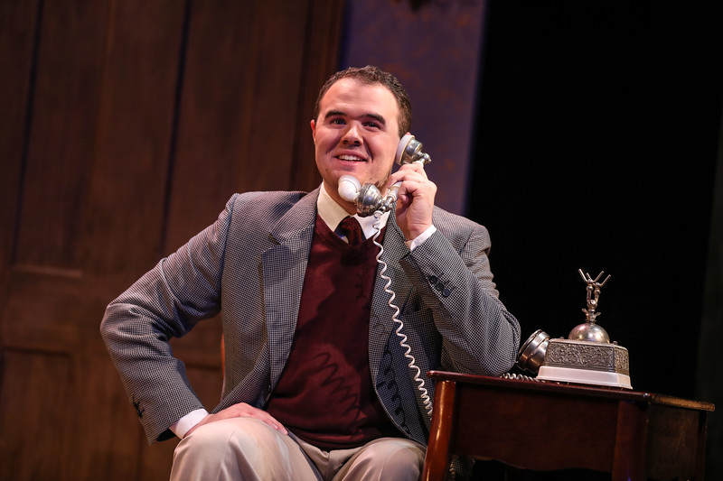 "Ted Silva, as Elwood P. Dowd, in Salem State University's Theatre Dept. production of Mary Chase's ""Harvey."""