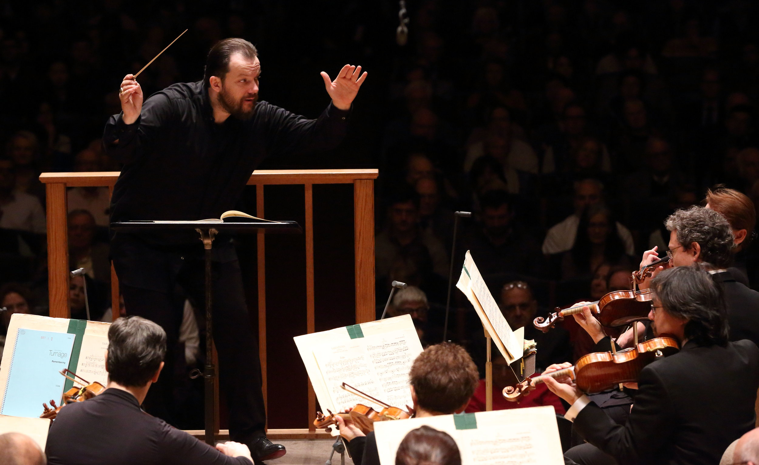 Andris Nelsons leads the Boston Symphony Orchestra, Thursday, Nov. 1, 2018, in Symphony Hall. Hilary Scott photograph