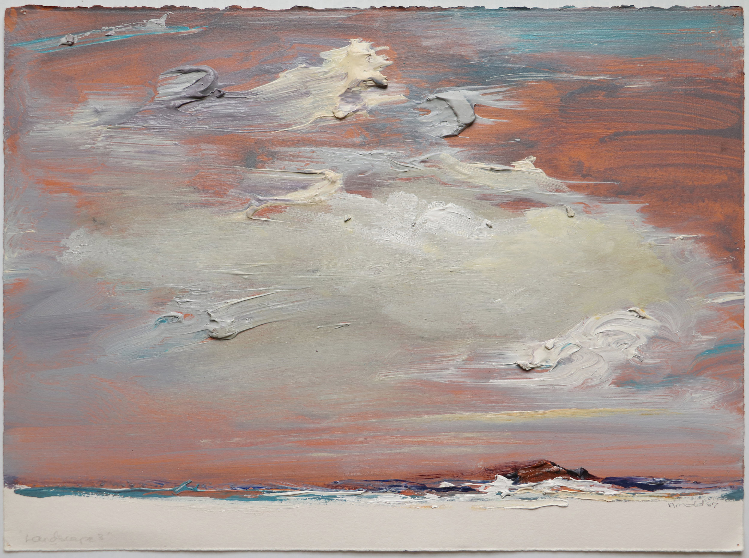 Doffie Arnold, Landscape #3, from the Crane Beach series. Pastel on paper, 1987.