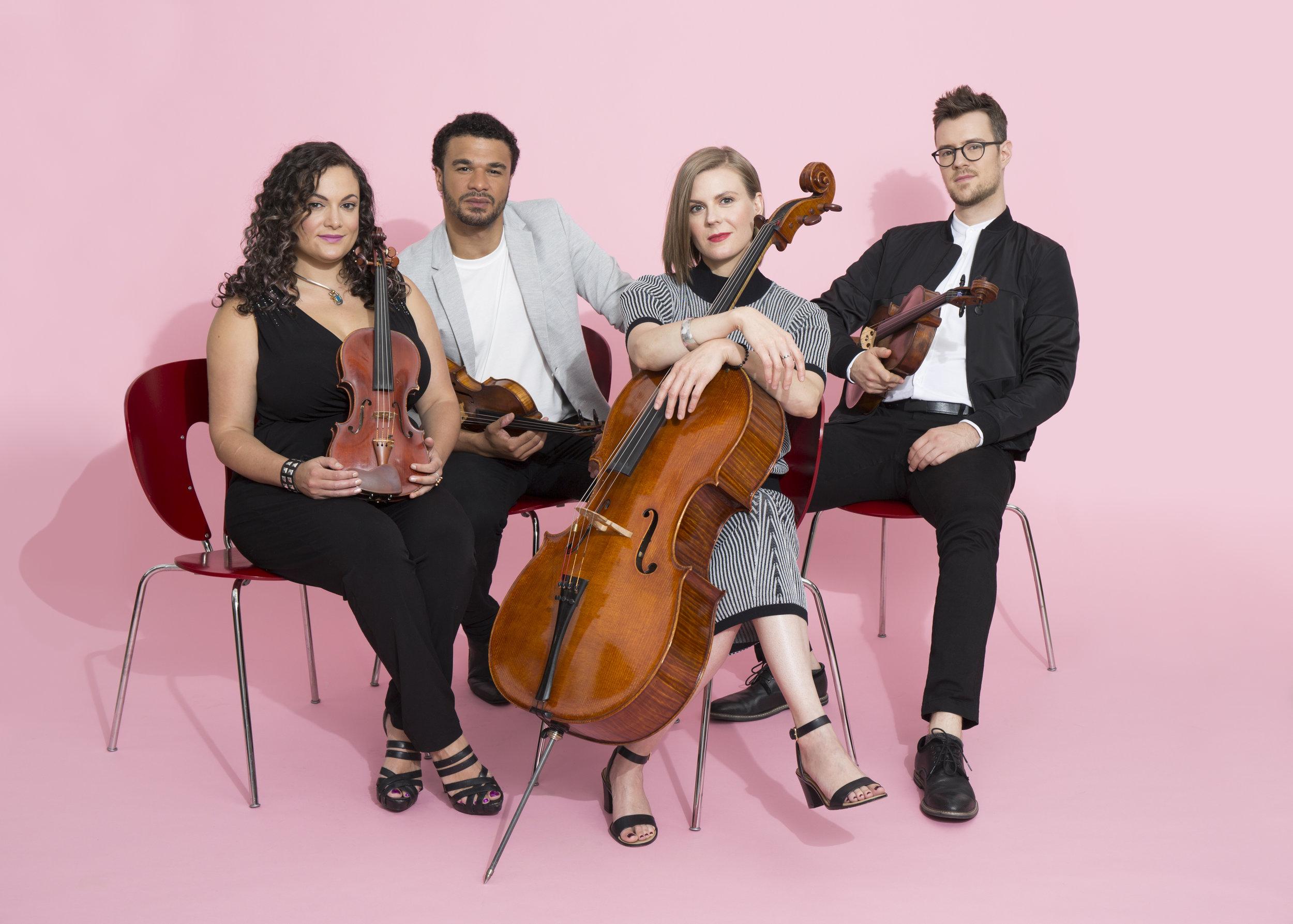 PUBLIQuartet: Jannina Norpoth and Curtis Stewart, violins; Amanda Gookin, cello; Nick Revel, viola. Ryan Scherb photograph