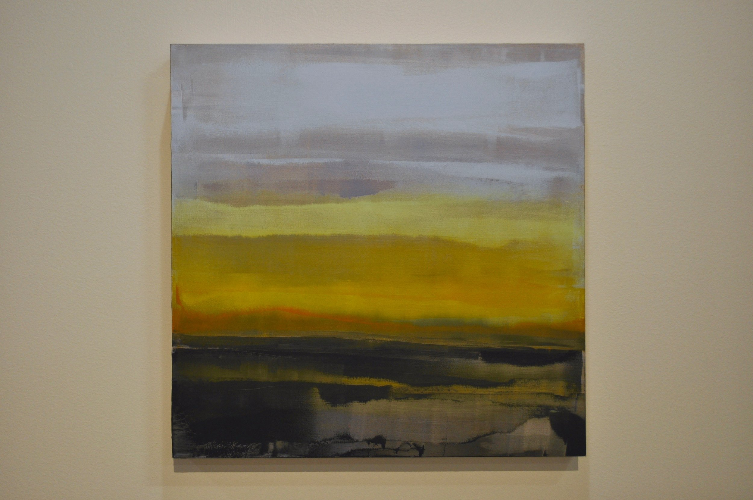 Carol Pelletier, Dawn. Oil and cold wax on birch panel. Caroline McCann photograph