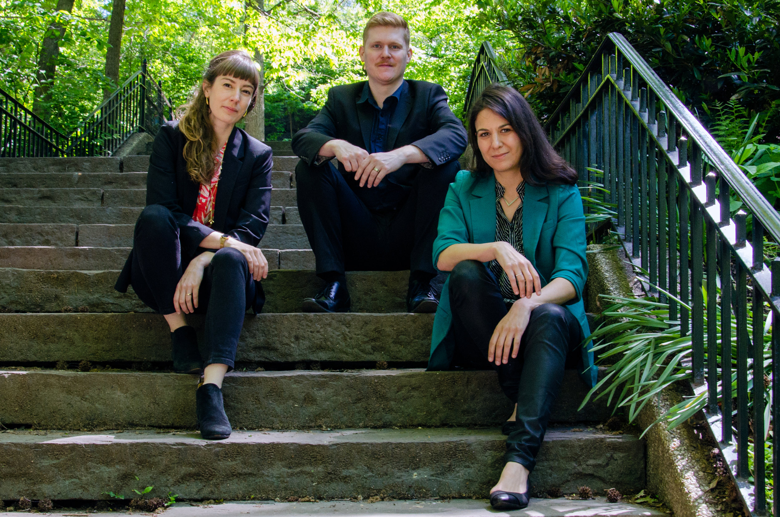 Kylwyria: pianist Julia Den Boer, hornist John Gattis and violinist Erica Dicker.
