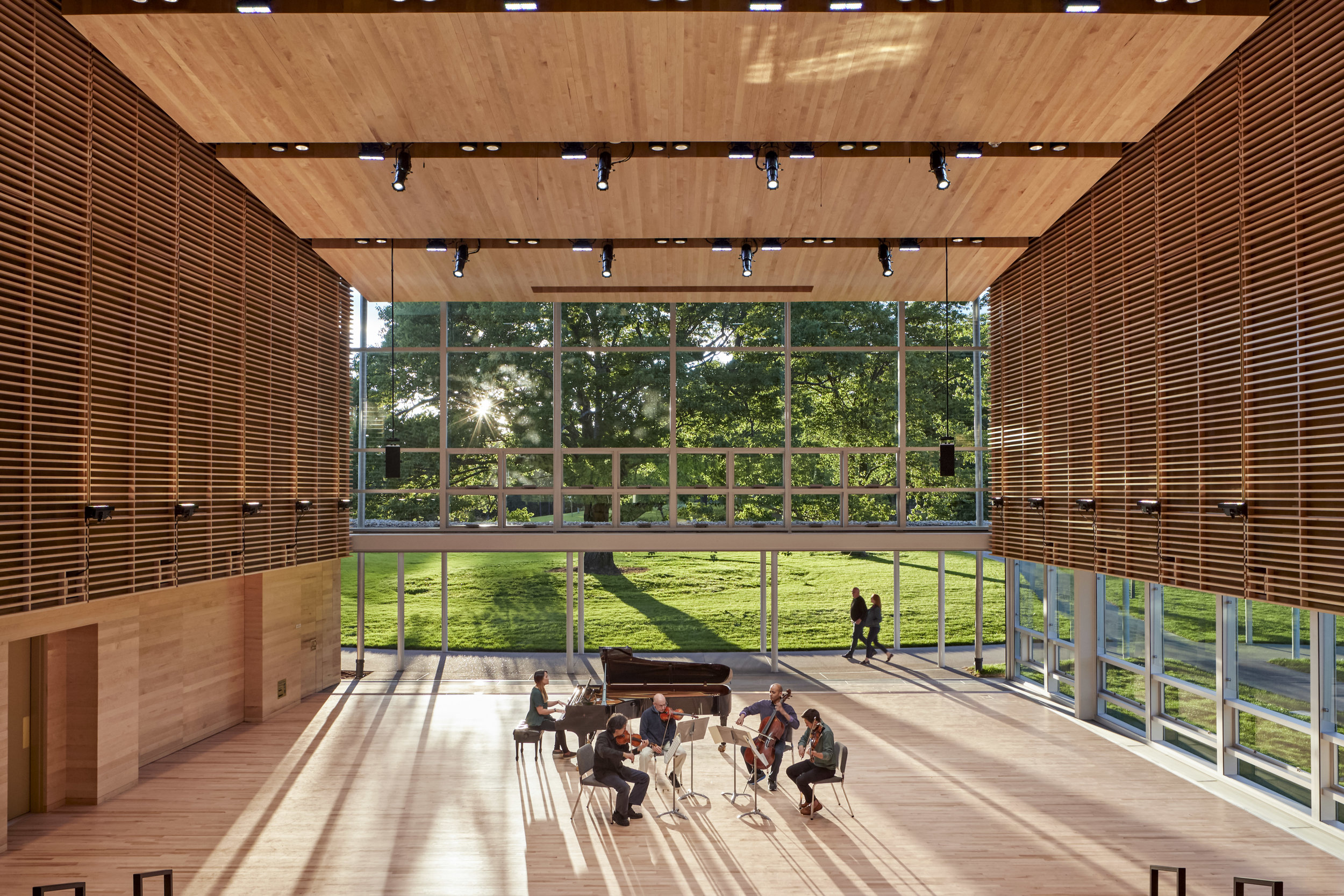 A rehearsal in the new Linde Center, home of the Tanglewood Learning Institute. Robert Benson photograph