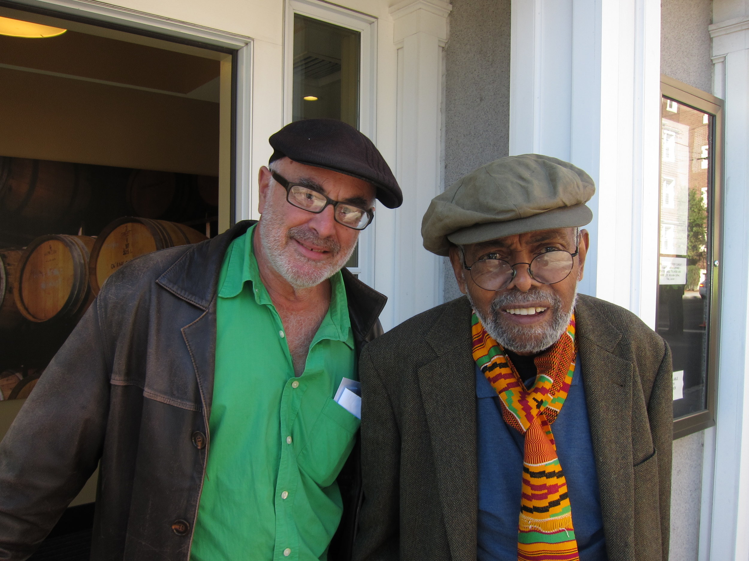 Henry Ferrini with poet Amiri Baraka.