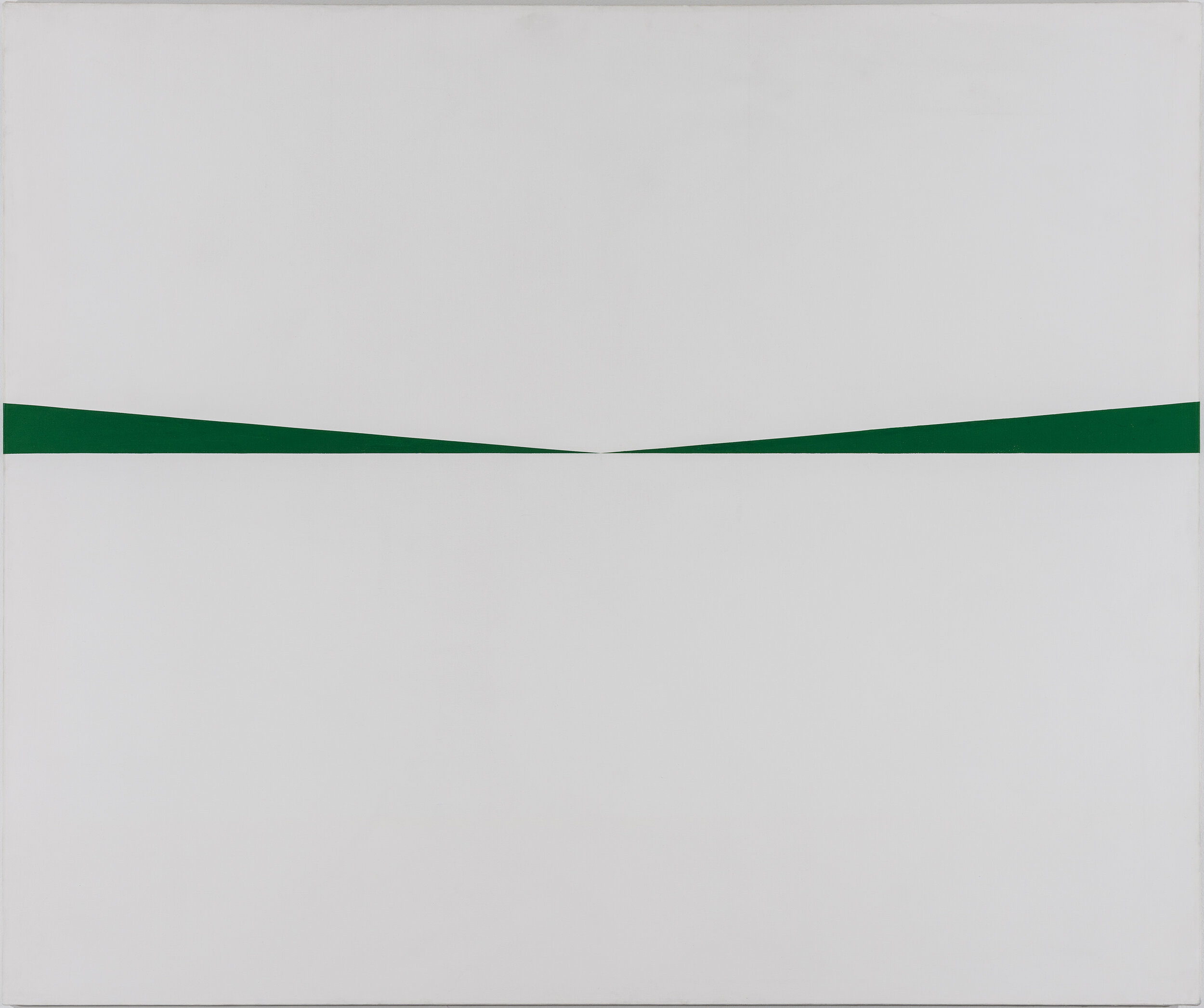 Carmen Herrara's Blanco y Verde, part of the Museum of Fine Arts 19th amendment exhibition, Women Take the Floor.